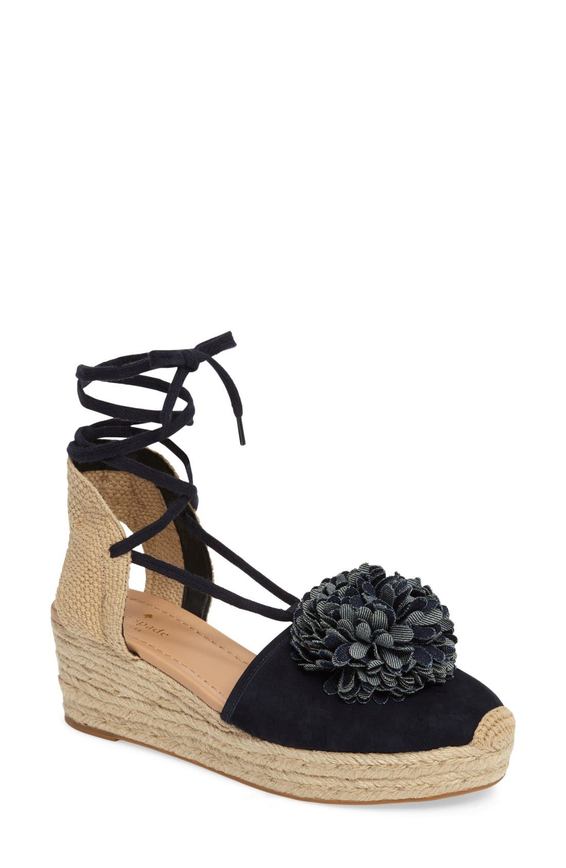 Alternate Image 1 Selected - kate spade new york lafayette wedge espadrille (Women)