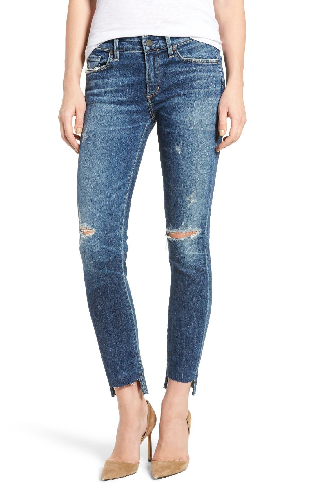CITIZENS OF HUMANITY Arielle Step Hem Skinny Jeans