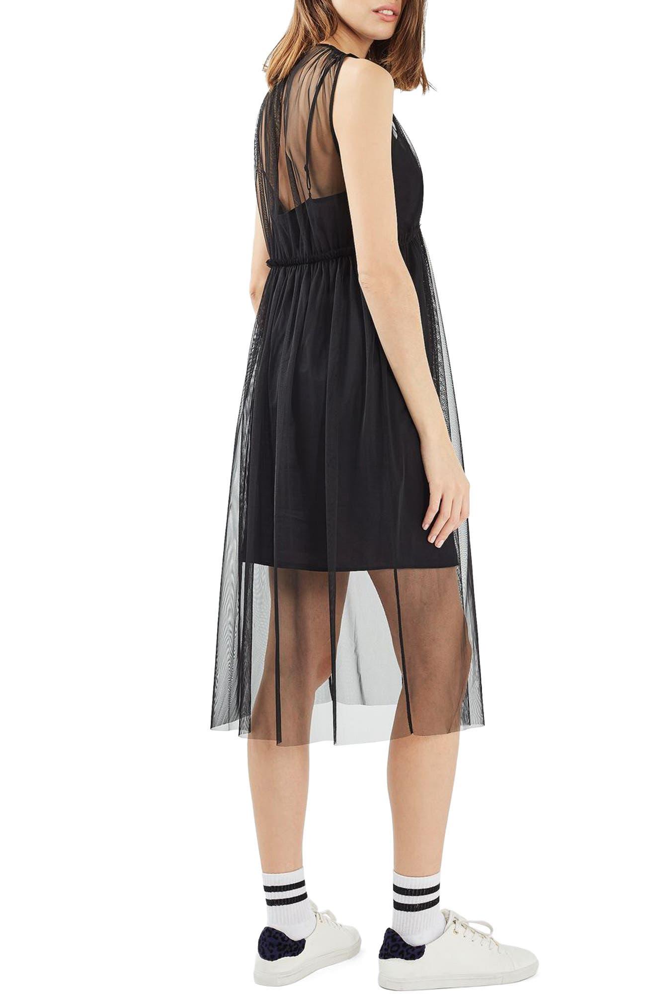 Alternate Image 3  - Topshop Tulle Midi Dress