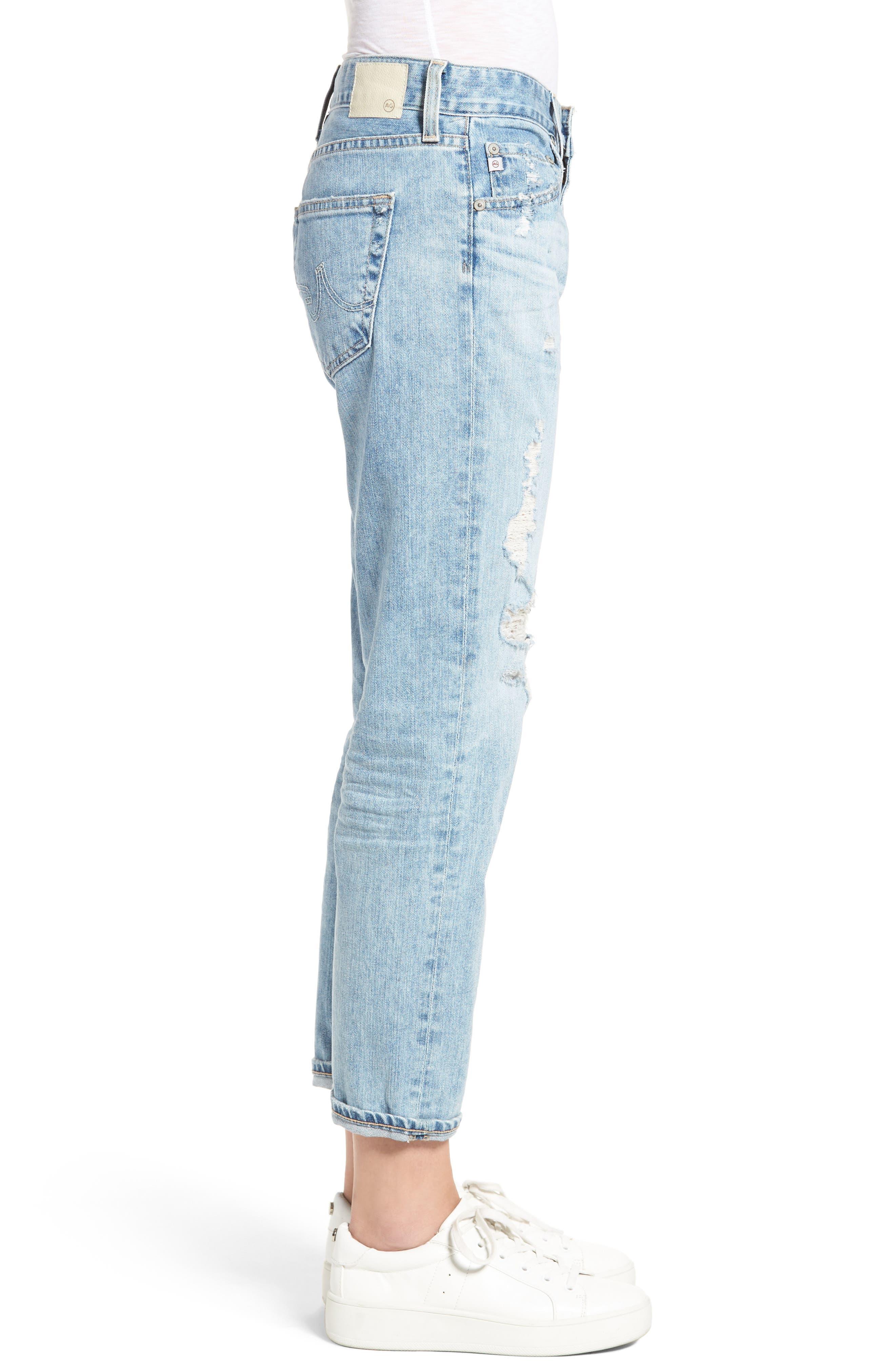 Alternate Image 4  - AG Ex-Boyfriend Crop Slim Jeans (24 Years Relief)