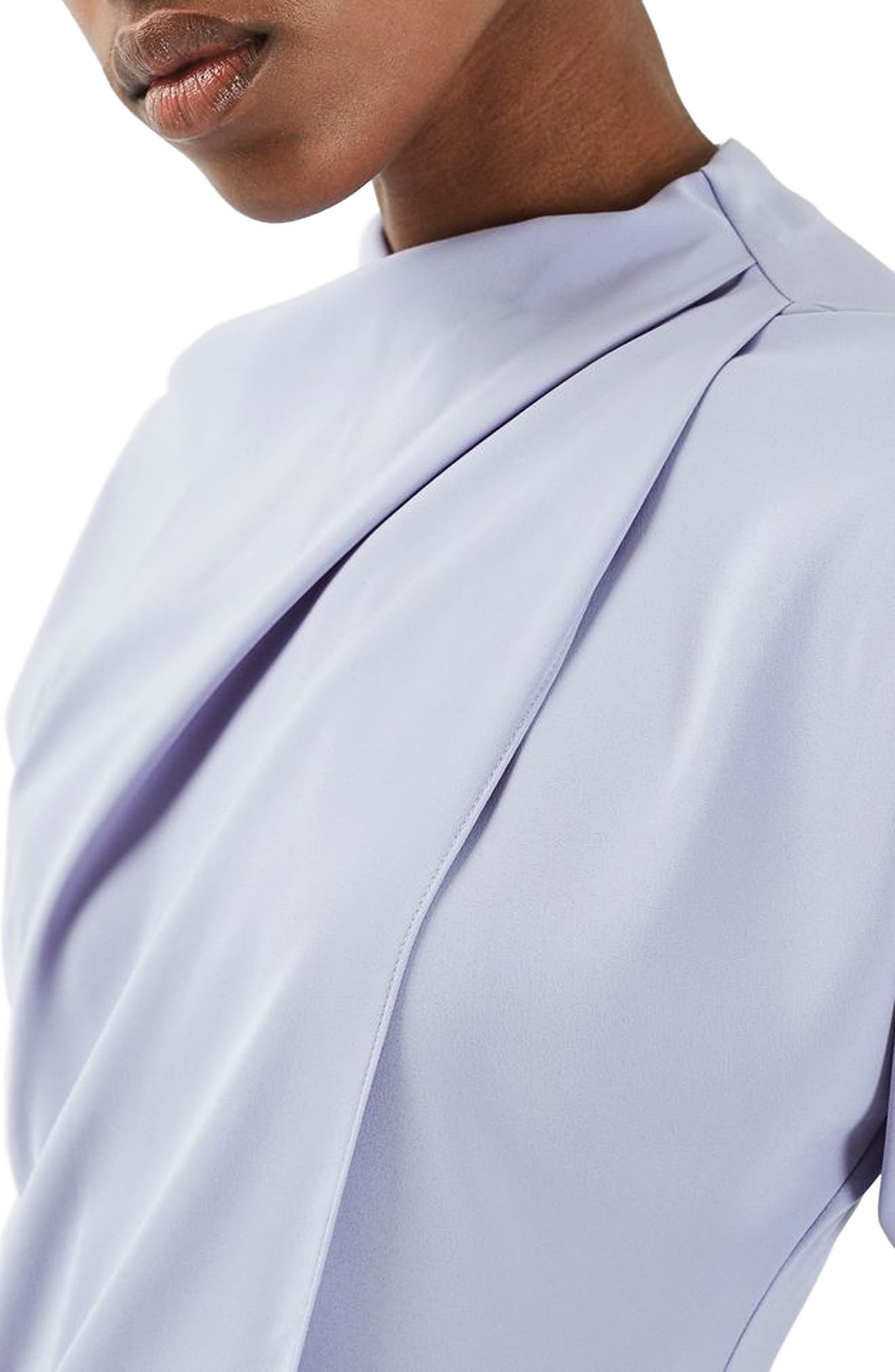 Alternate Image 5  - Topshop Drape Neck Dress