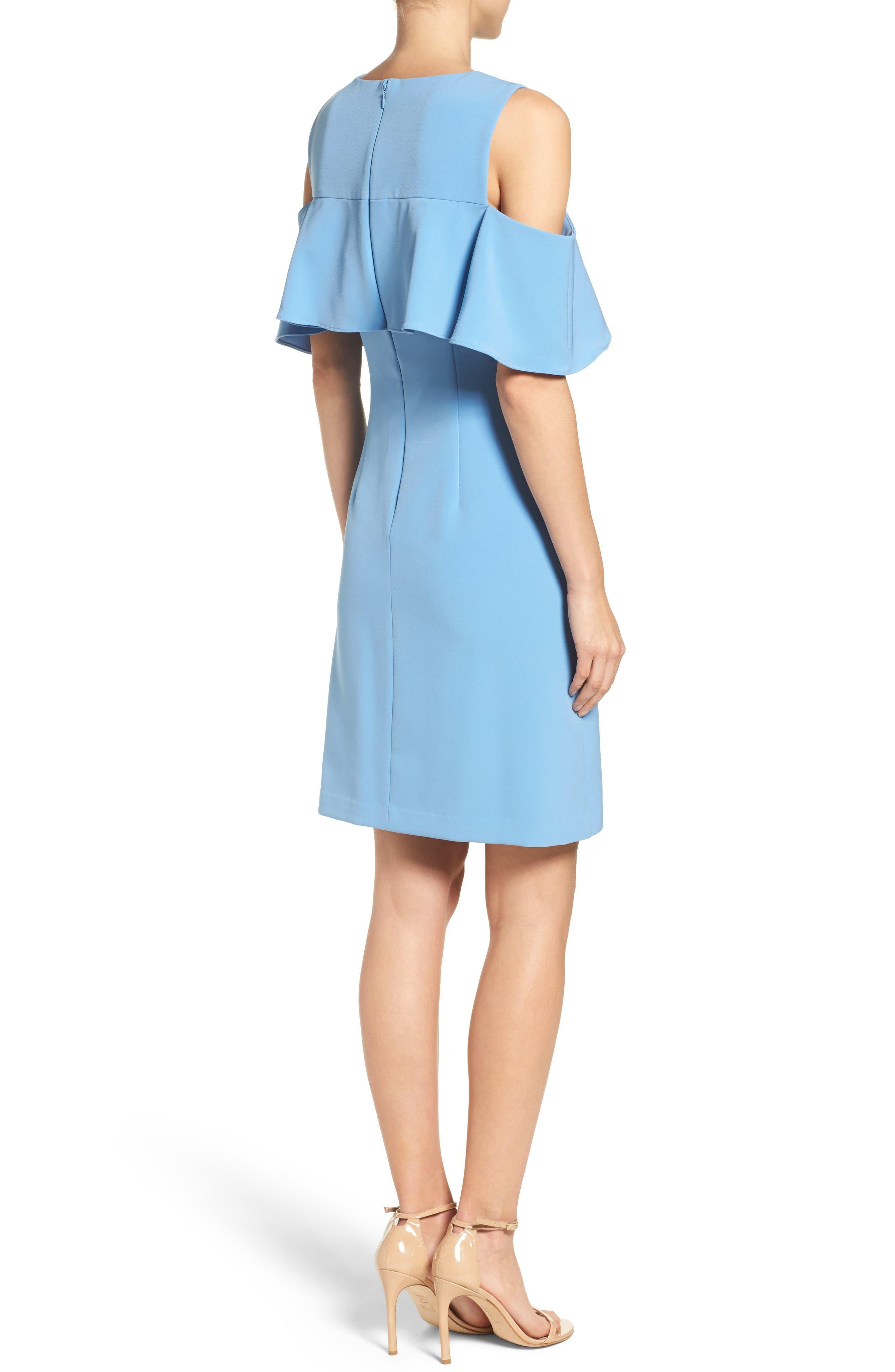 Alternate Image 2  - Taylor Dresses Cold Shoulder Sheath Dress