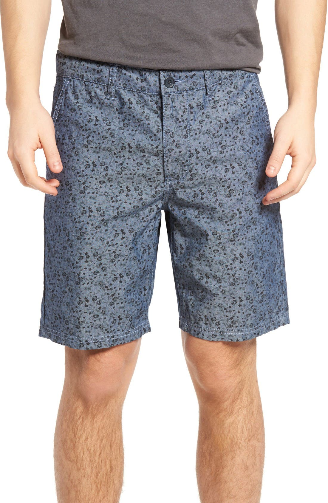 John Varvatos Star USA Floral Print Shorts