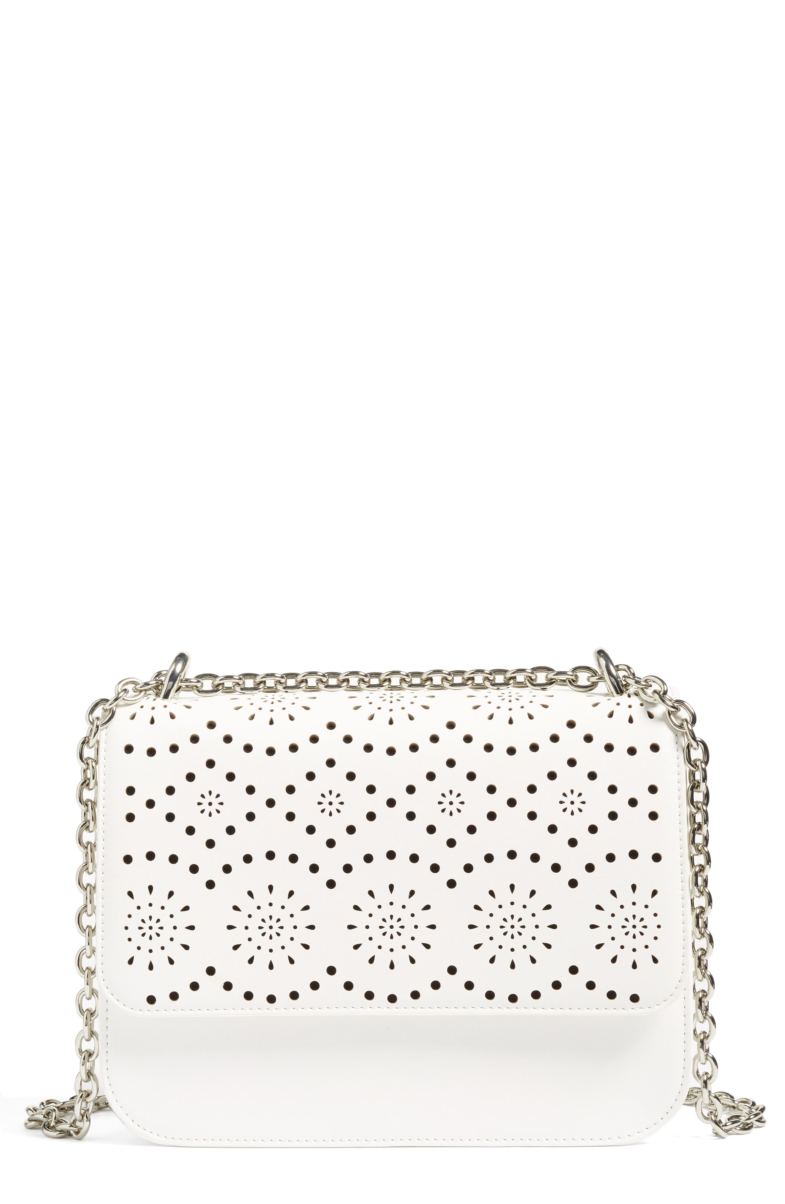 Alternate Image 1 Selected - Chelsea28 Dahlia Perforated Faux Leather Shoulder Bag
