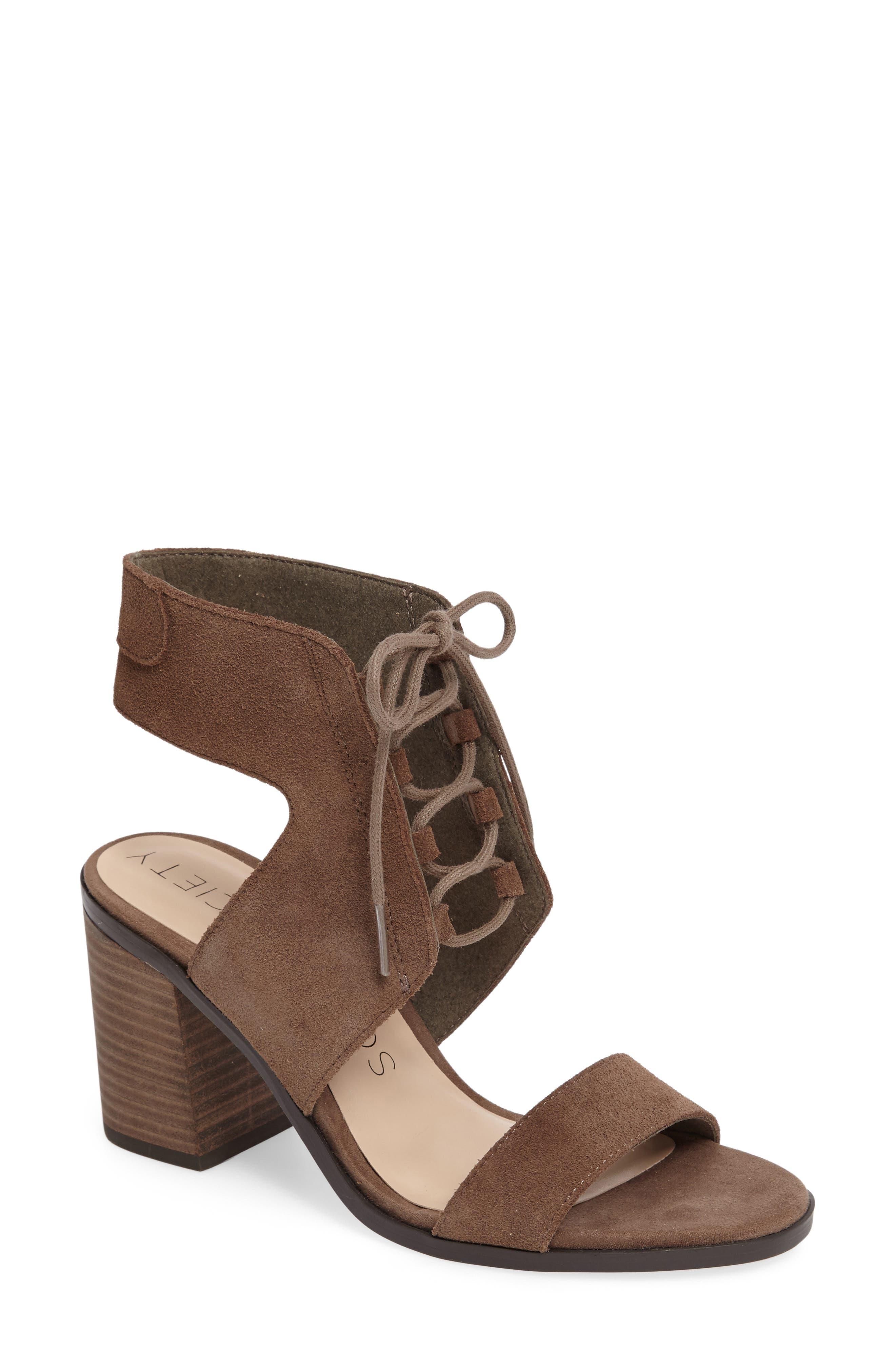 Sole Society Auburn Lace-Up Sandal (Women)