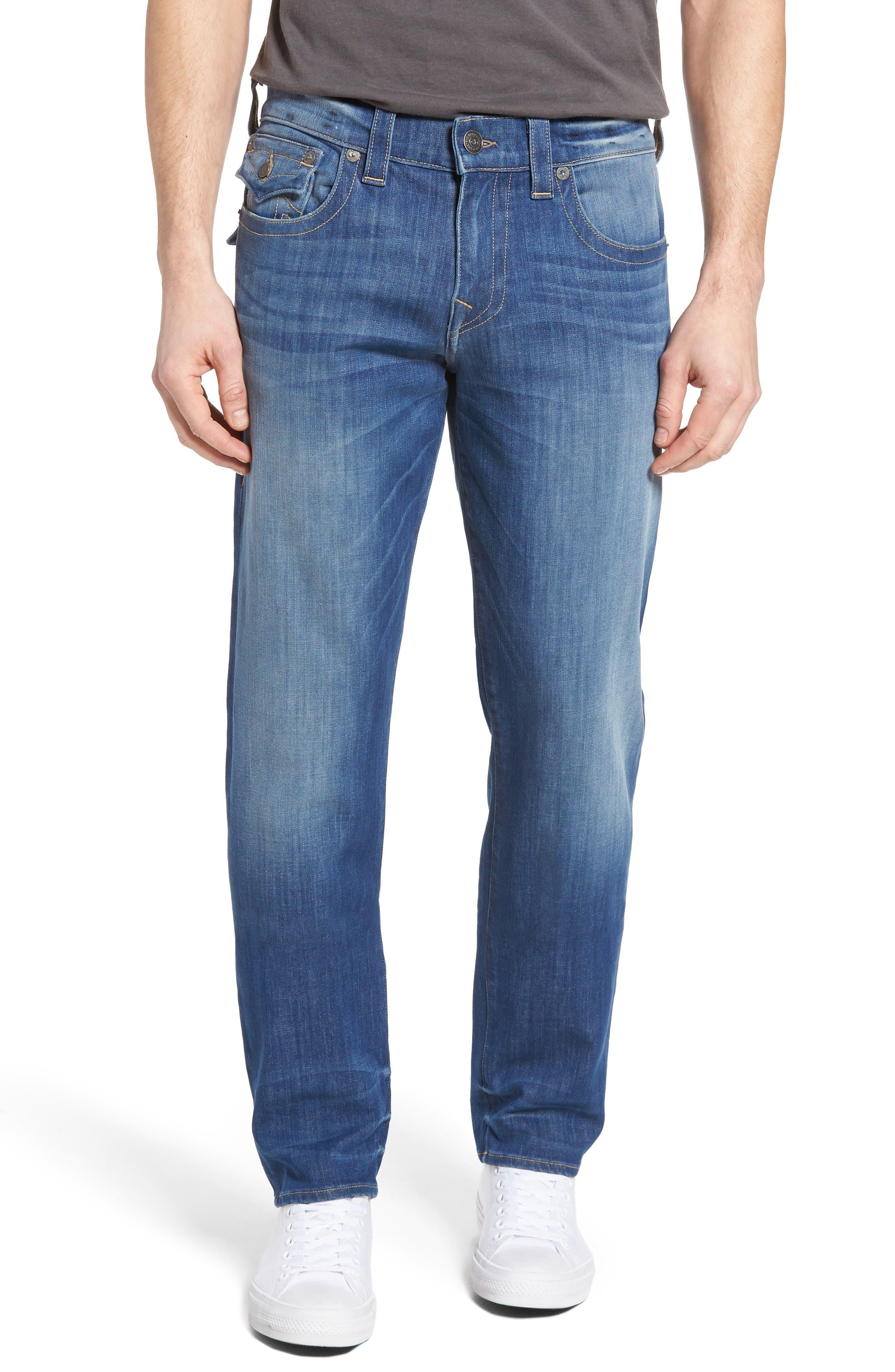 True Religion Brand Jeans Geno Straight Leg Jeans (Sun Faded)