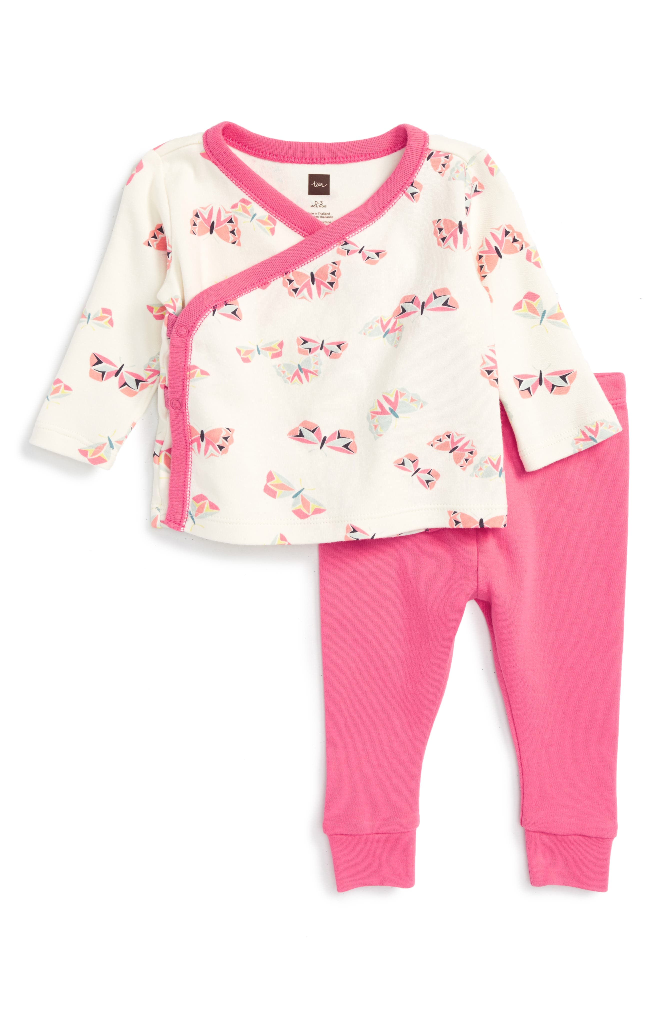 Tea Collection Flutterby Top & Sweatpants Set (Baby Girls)