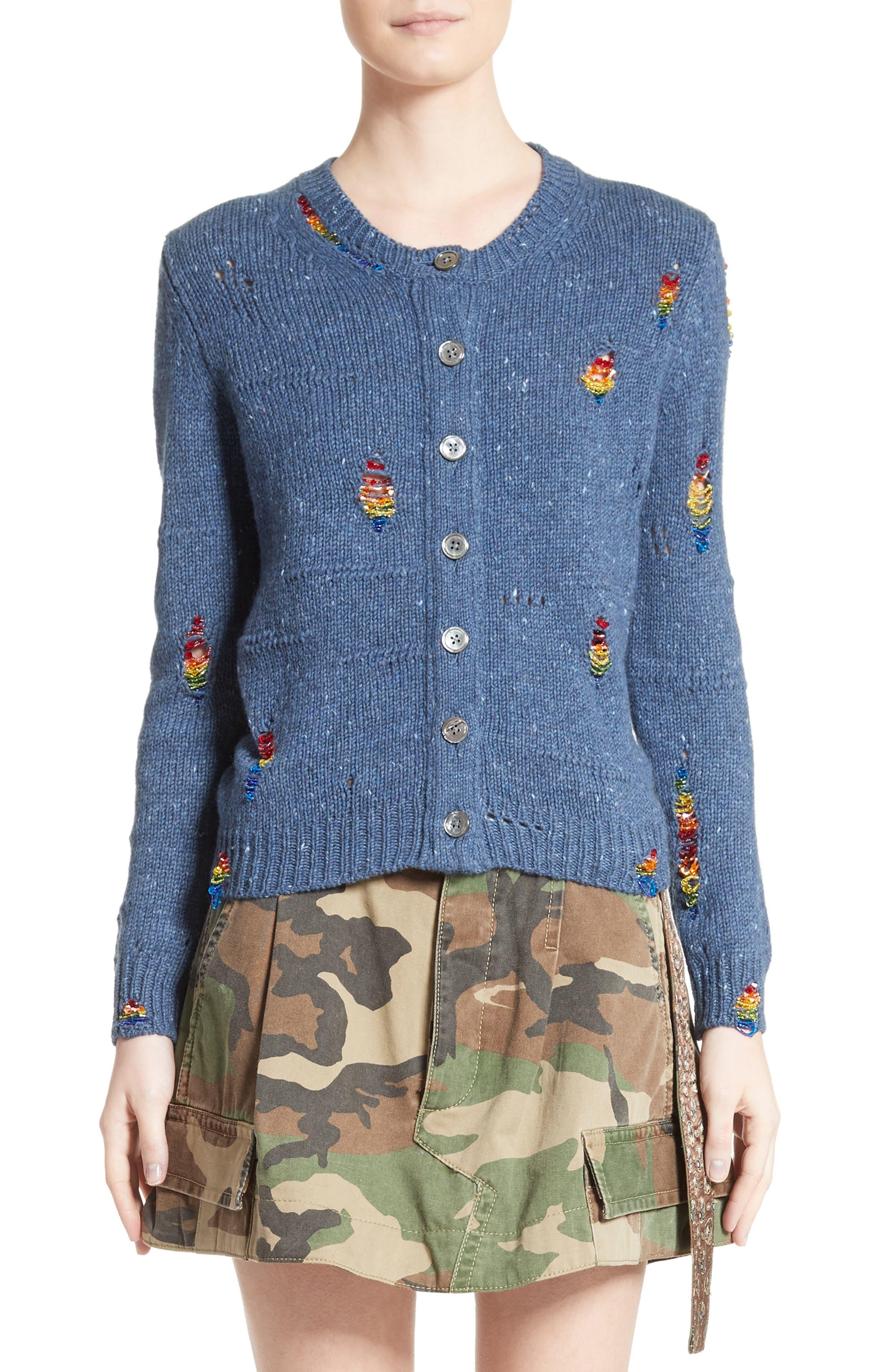 MARC JACOBS Embellished Knit Cardigan