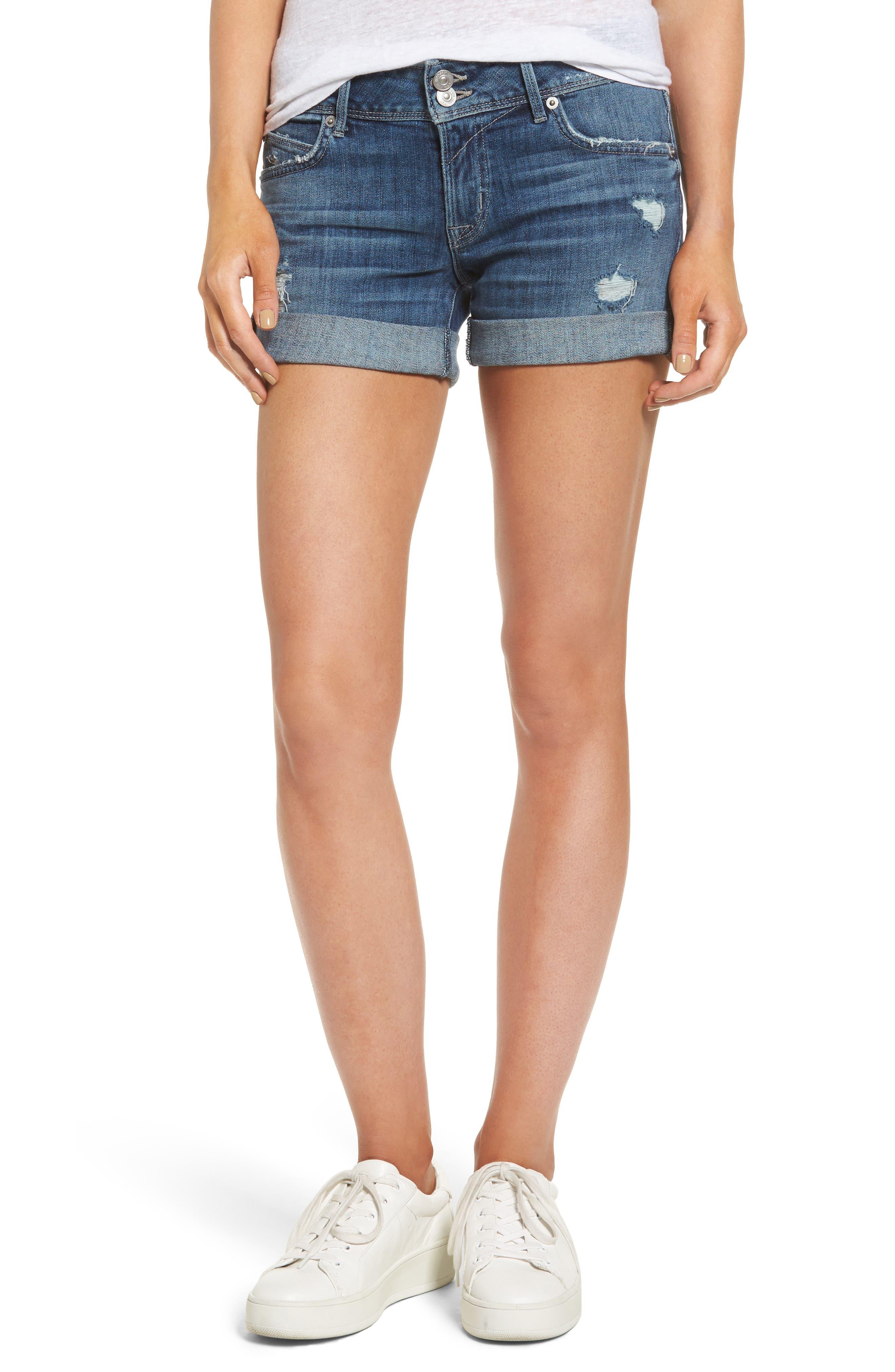 Hudson Jeans Croxley Cuffed Denim Shorts (Evasion)
