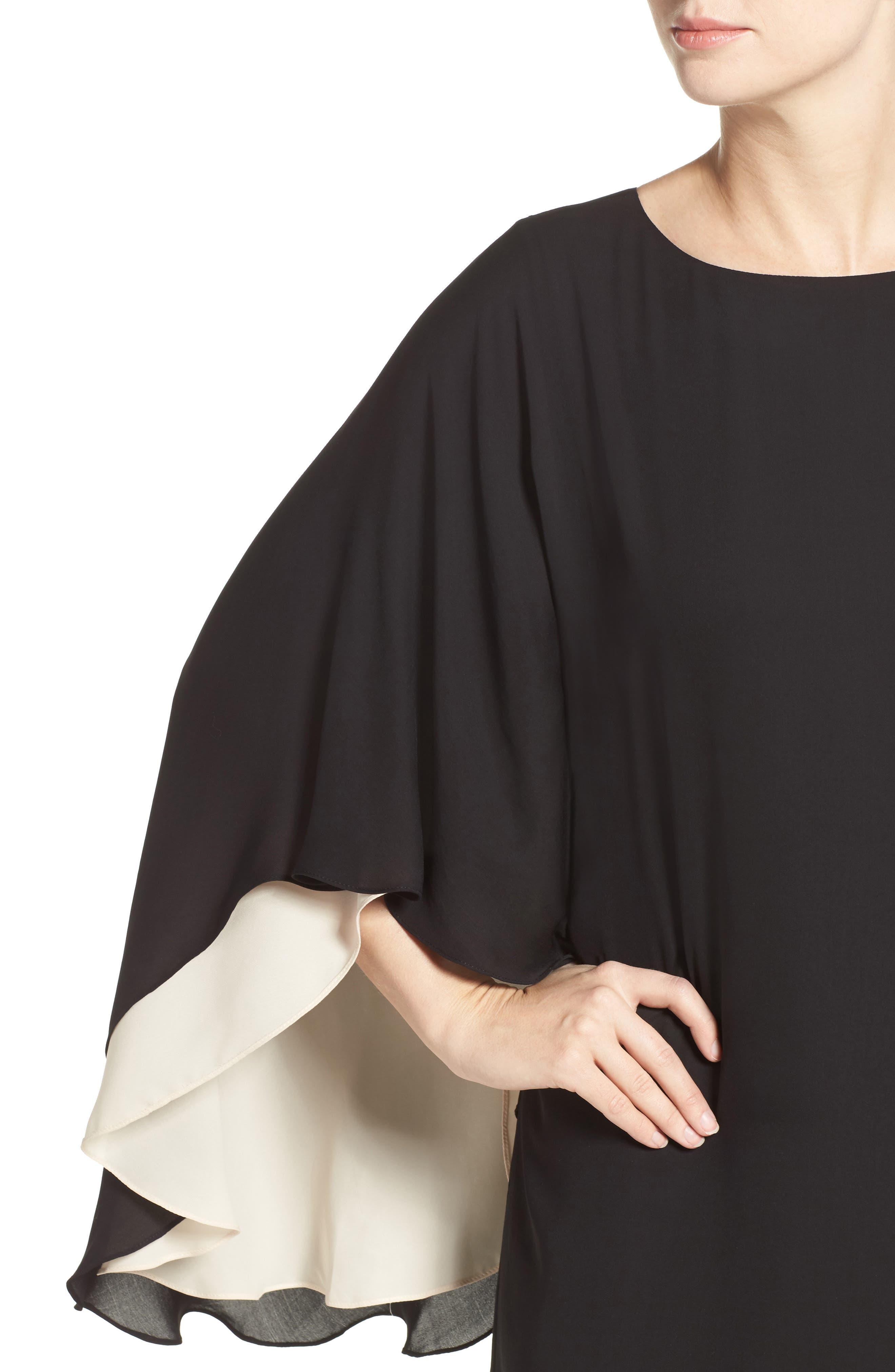 Alternate Image 6  - Halston Heritage Cape Sleeve Shift Dress