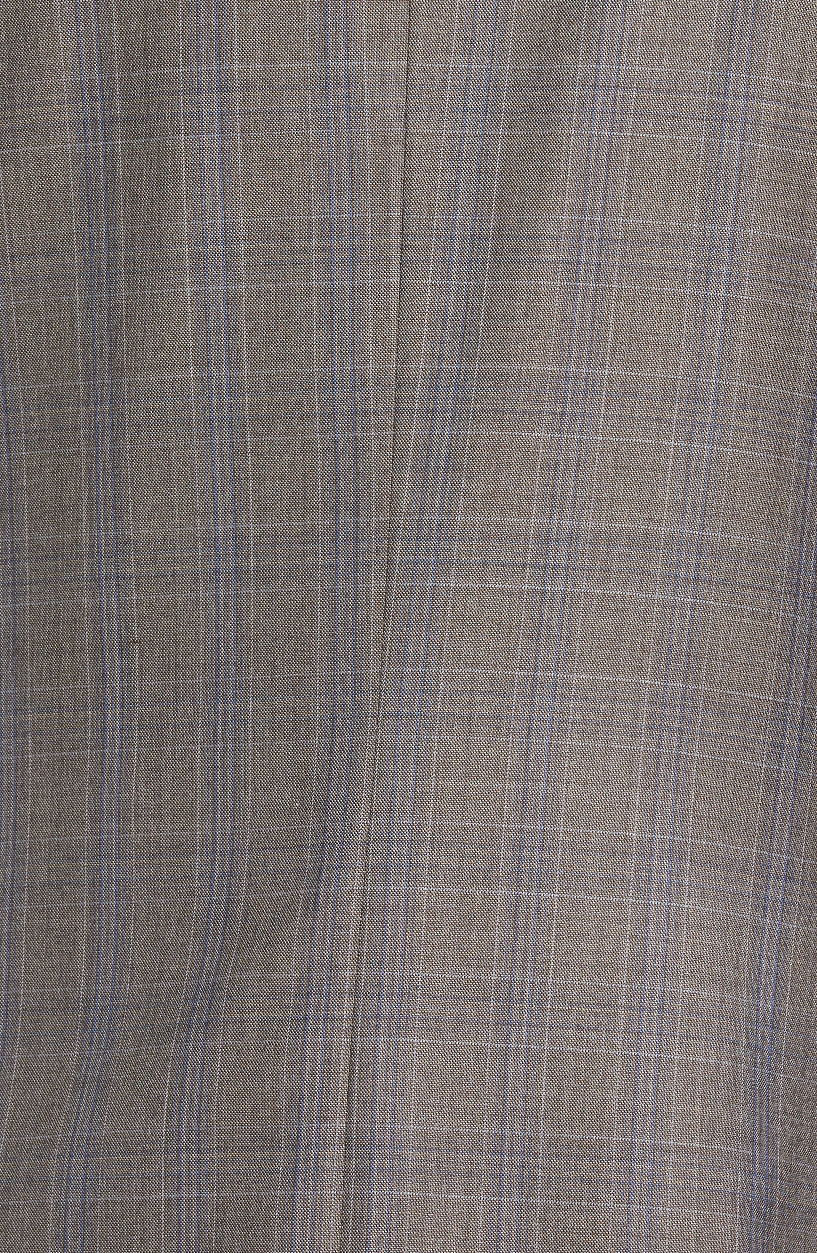 Alternate Image 5  - Hickey Freeman Beacon Classic Fit Plaid Wool Suit
