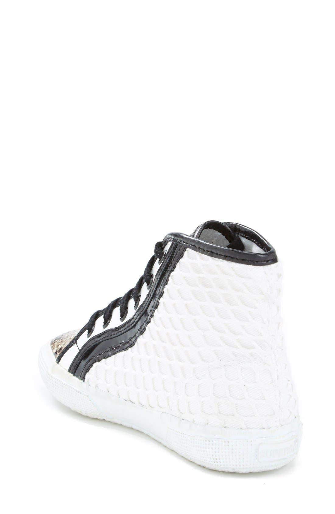 Alternate Image 2  - Superga Rodarte Mixed Media High Top Sneaker (Women)