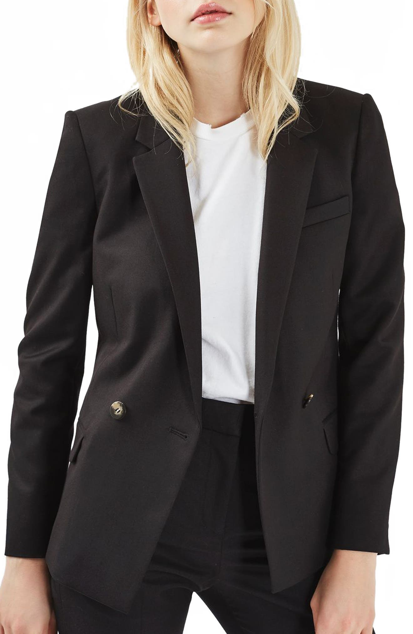 Topshop Double Breasted Suit Jacket