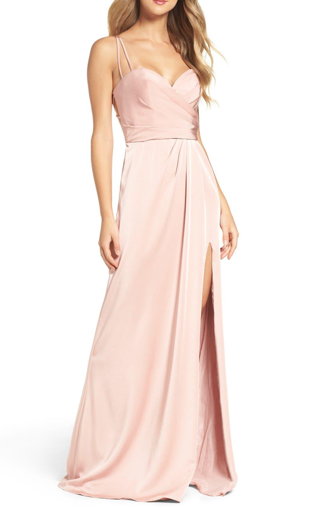 Alternate Image 1 Selected - La Femme Sweetheart Gown
