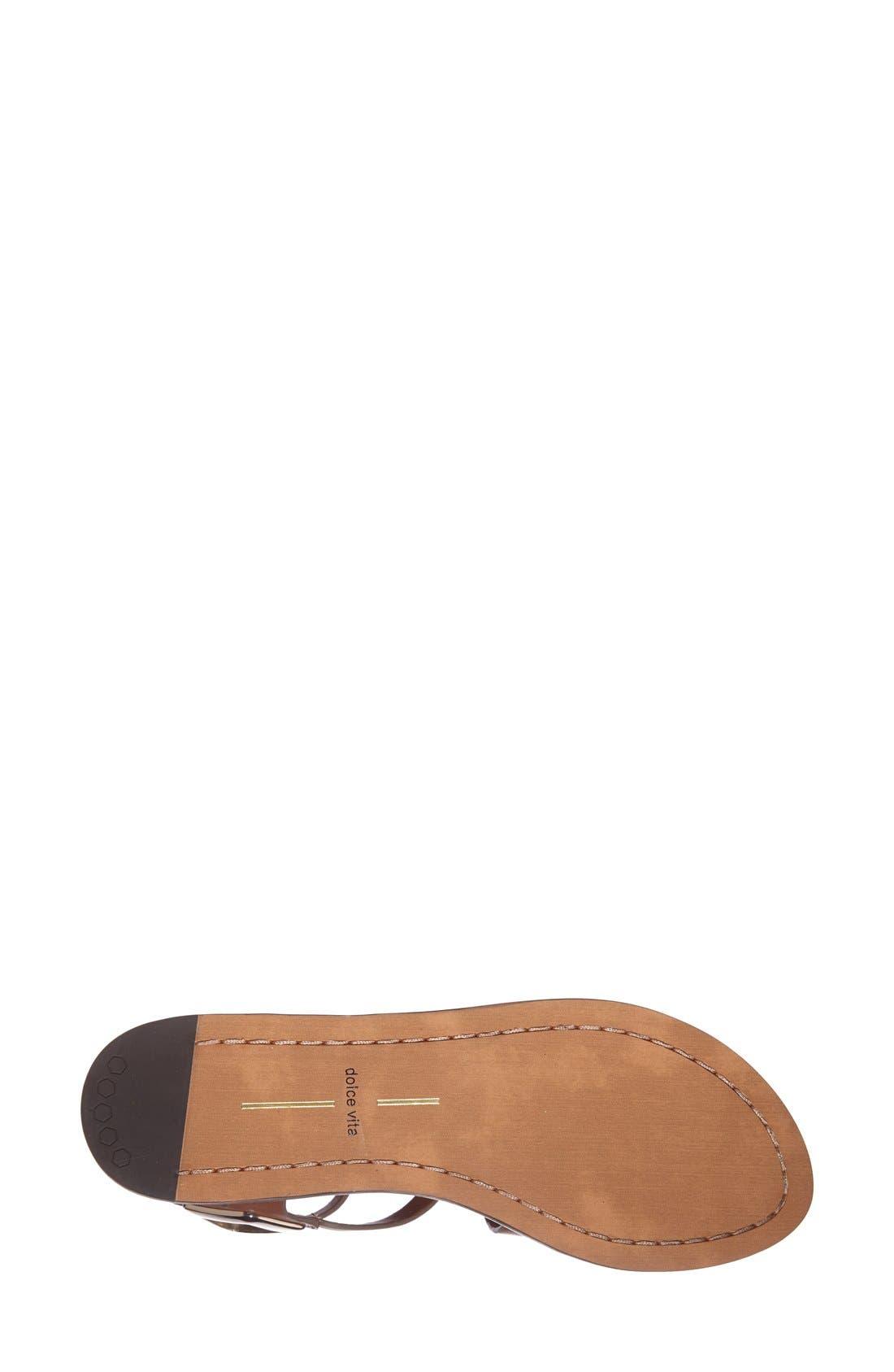 Alternate Image 4  - Dolce Vita 'Ferrah' Flat Leather Sandal (Women)