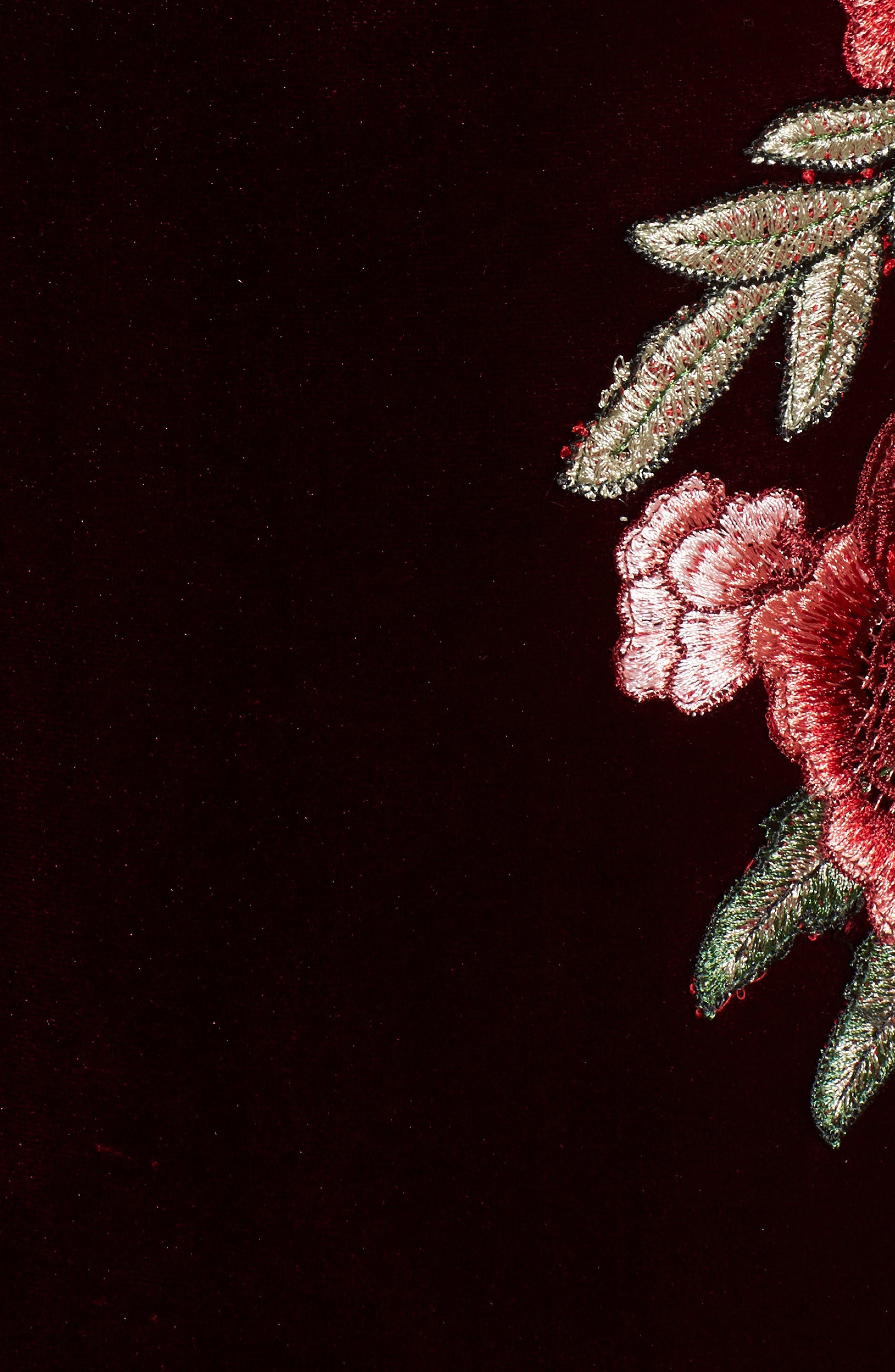 Alternate Image 5  - Socialite Embroidered Velvet Bodysuit