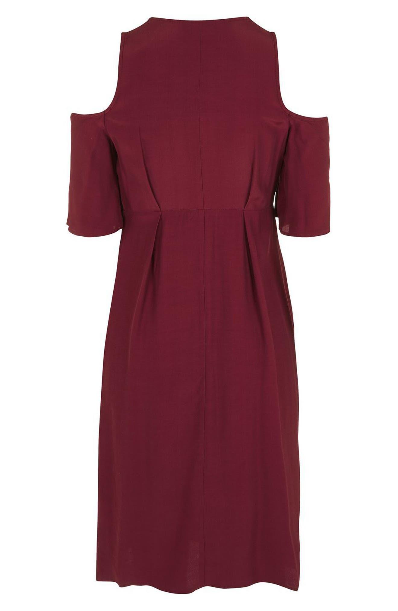 Alternate Image 5  - Topshop Cold Shoulder Wrap Maternity Dress
