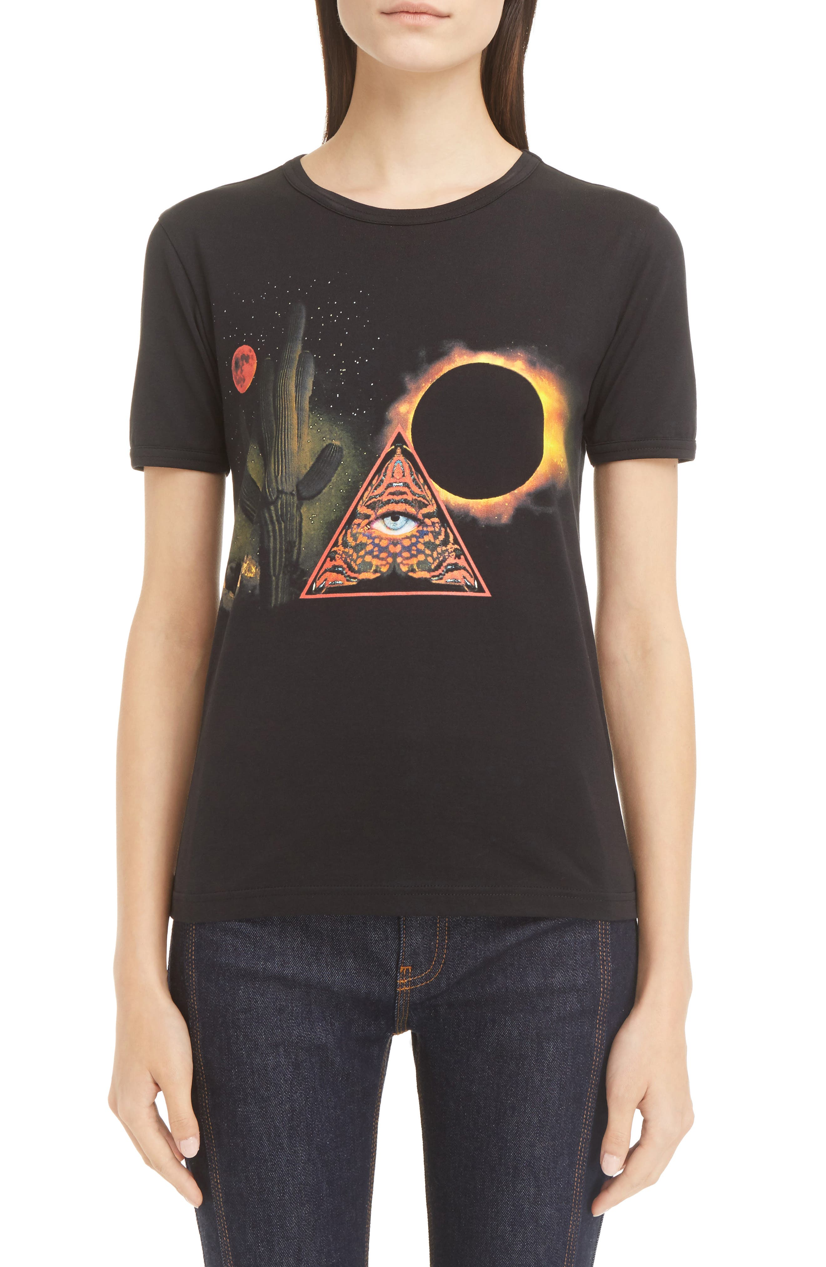 Alternate Image 1 Selected - Givenchy Cactus Print Cotton Tee