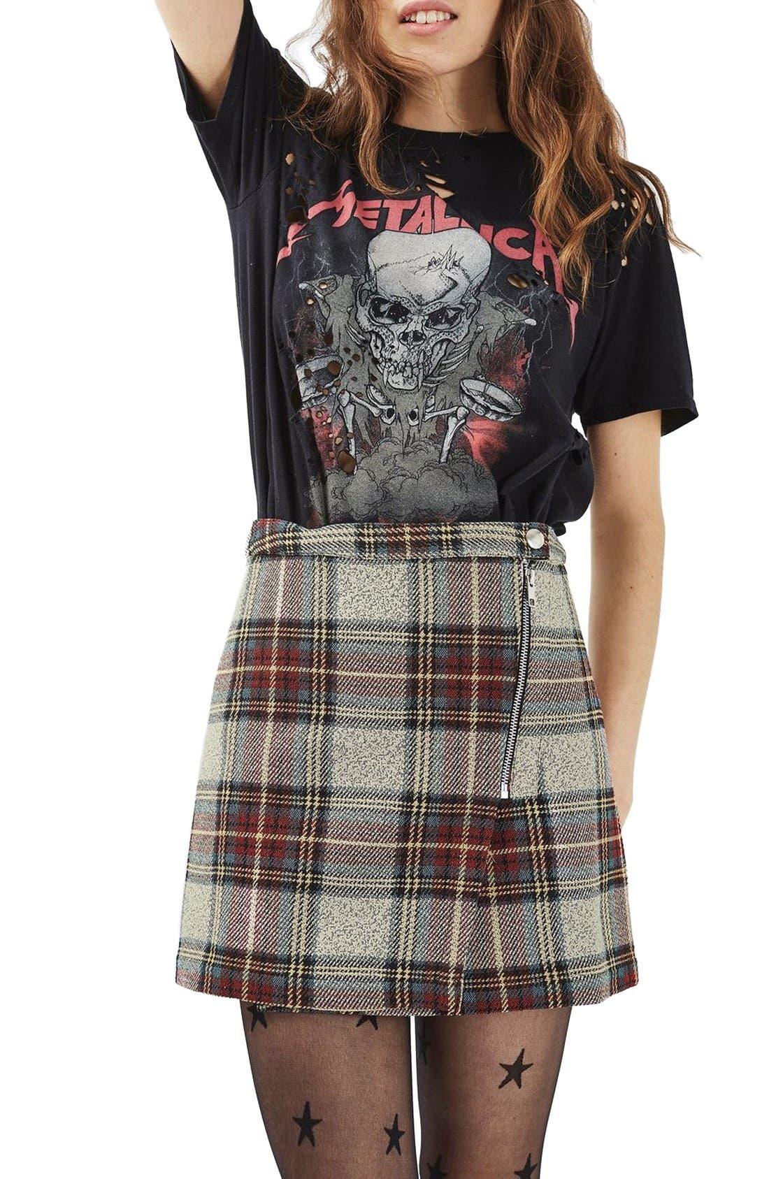 Alternate Image 4  - Topshop Plaid Wrap Miniskirt