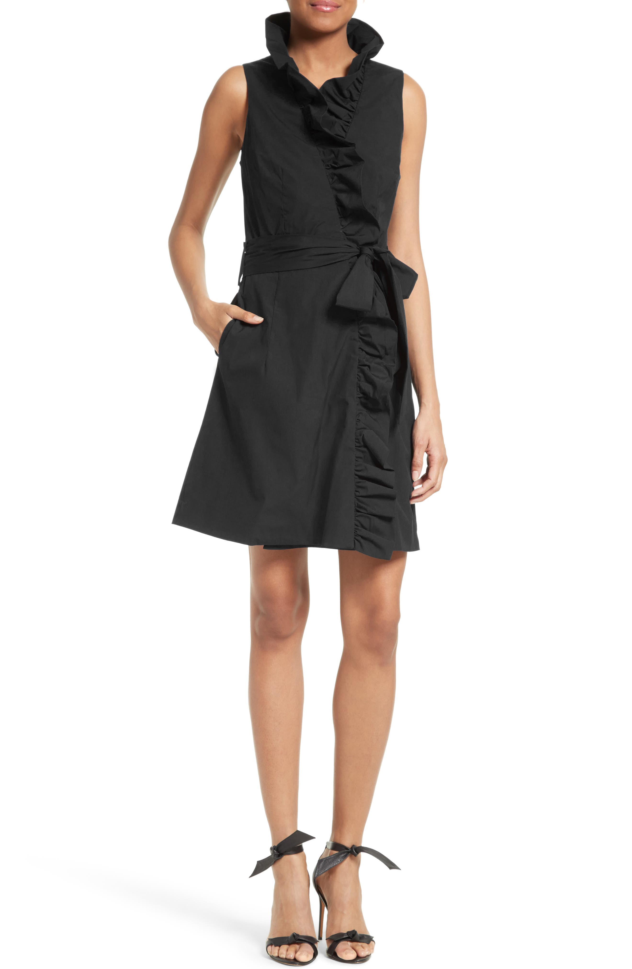 Alternate Image 1 Selected - Milly Ruffle Wrap Dress