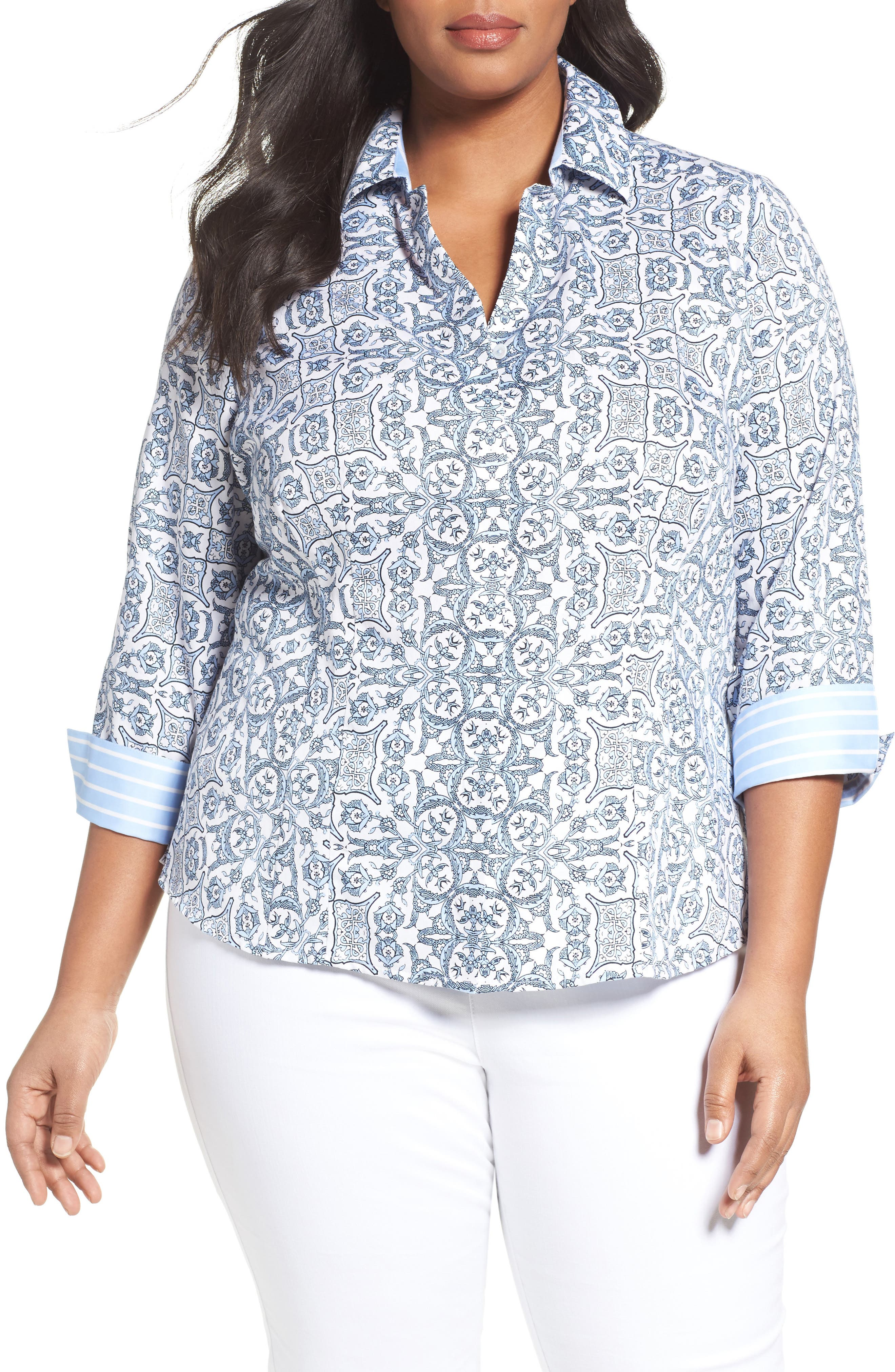 FOXCROFT Taylor Scroll Non-Iron Shirt