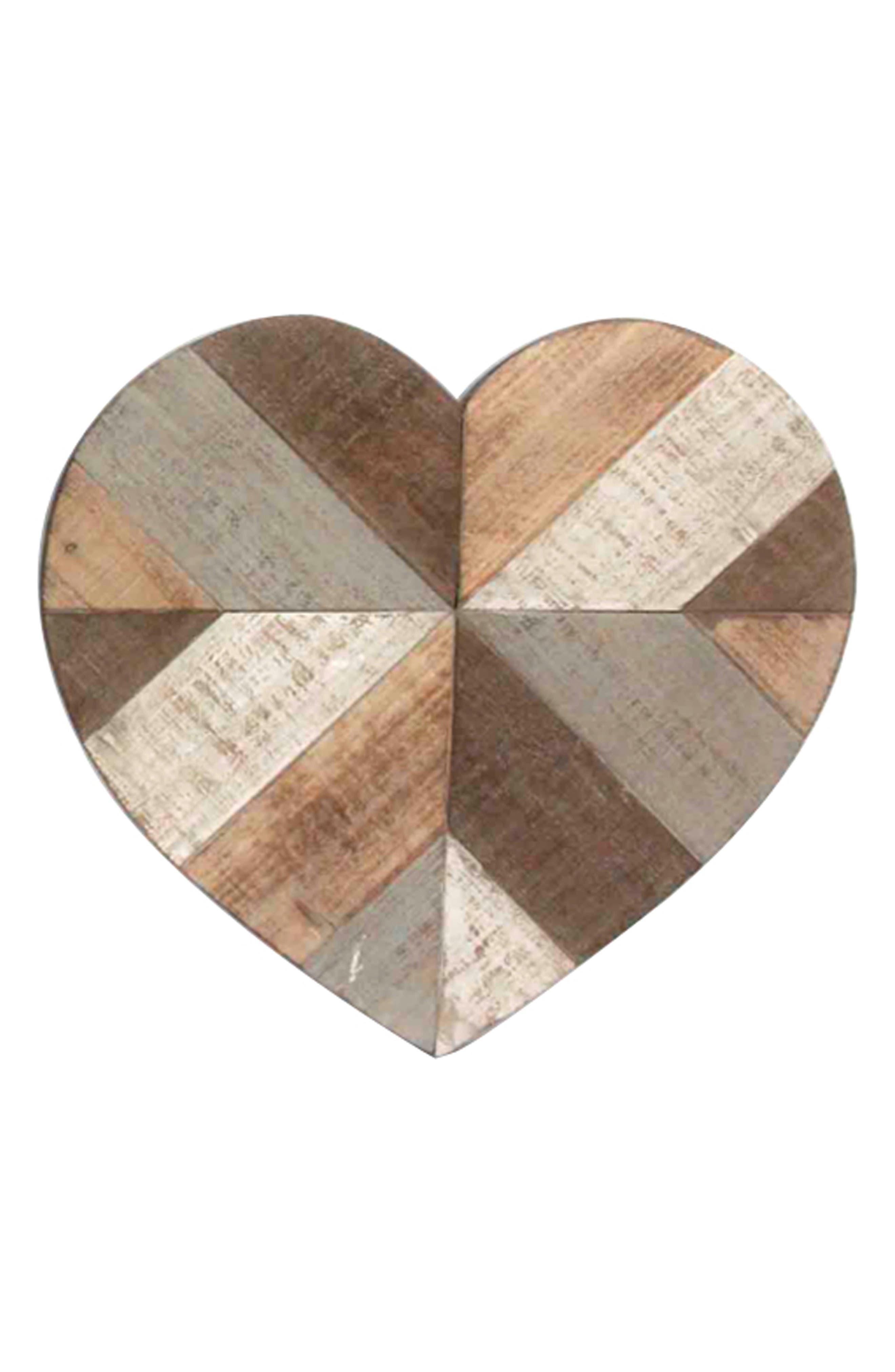 Main Image - Crystal Art Gallery Wooden Heart Wall Art
