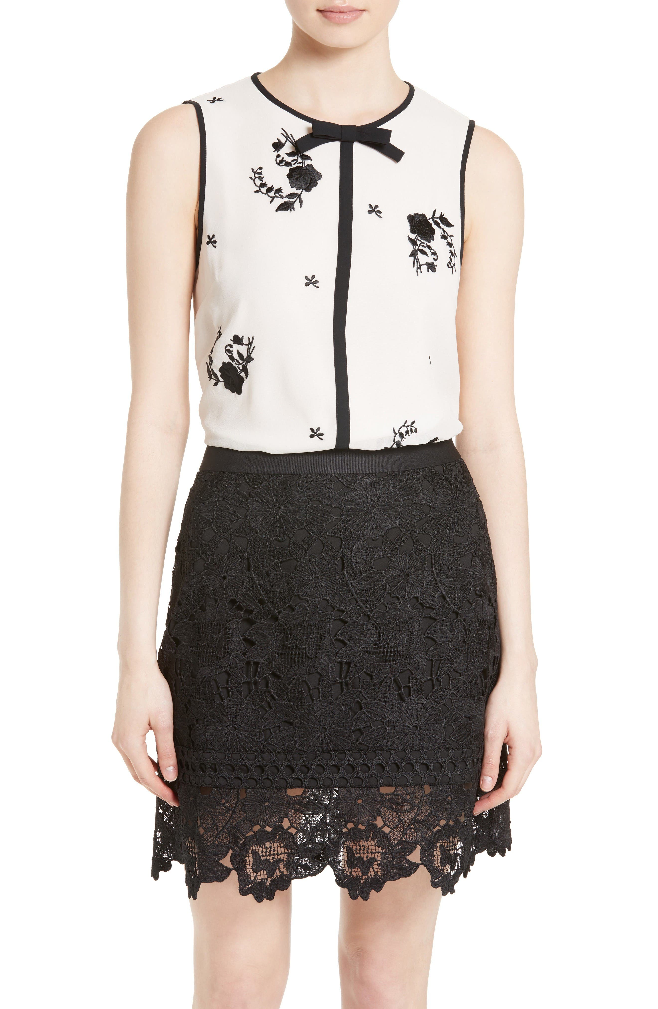 Ted Baker London Soo Embroidered Top