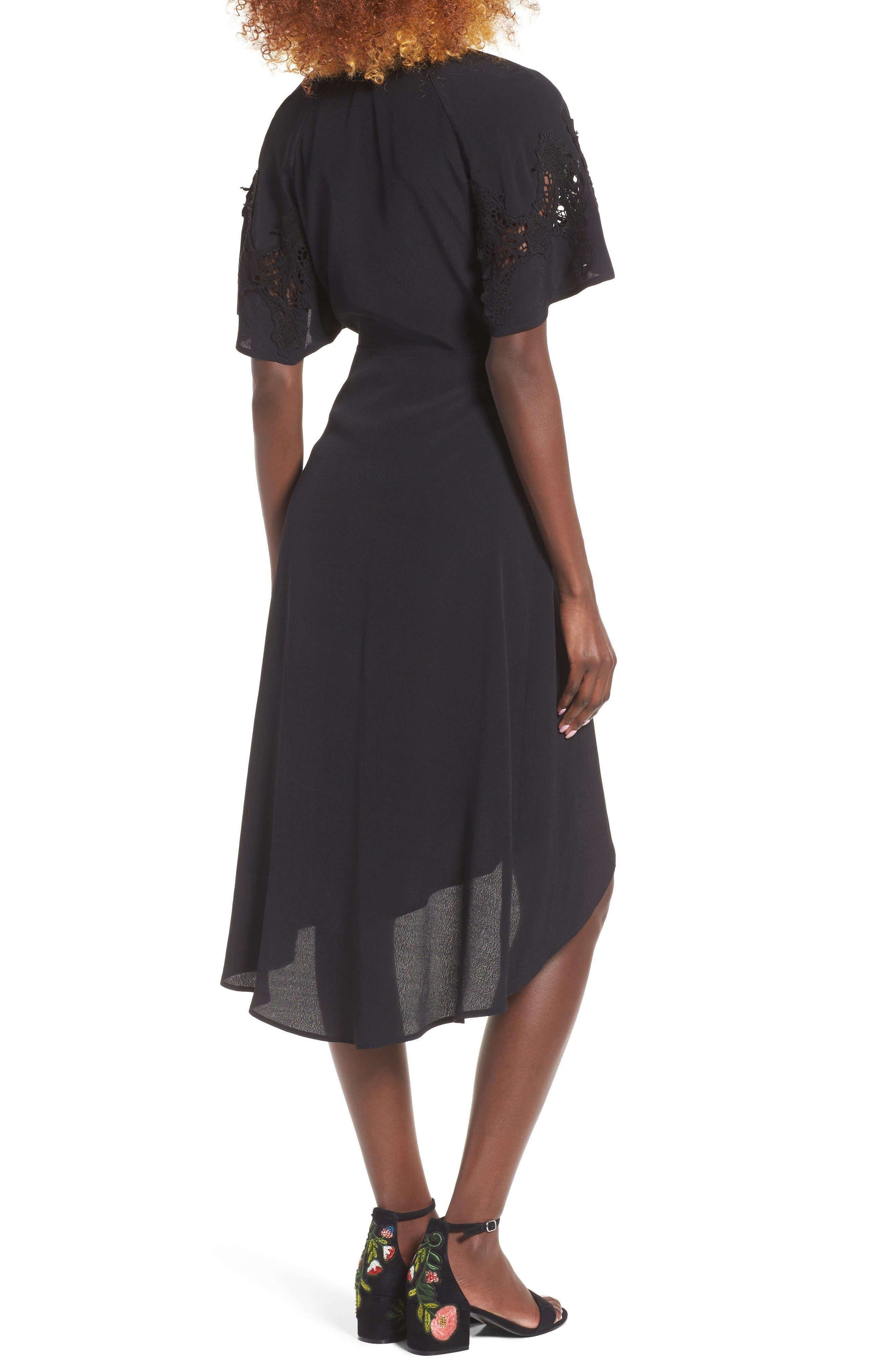 Alternate Image 2  - ASTR the Label Crochet Sleeve Wrap Dress