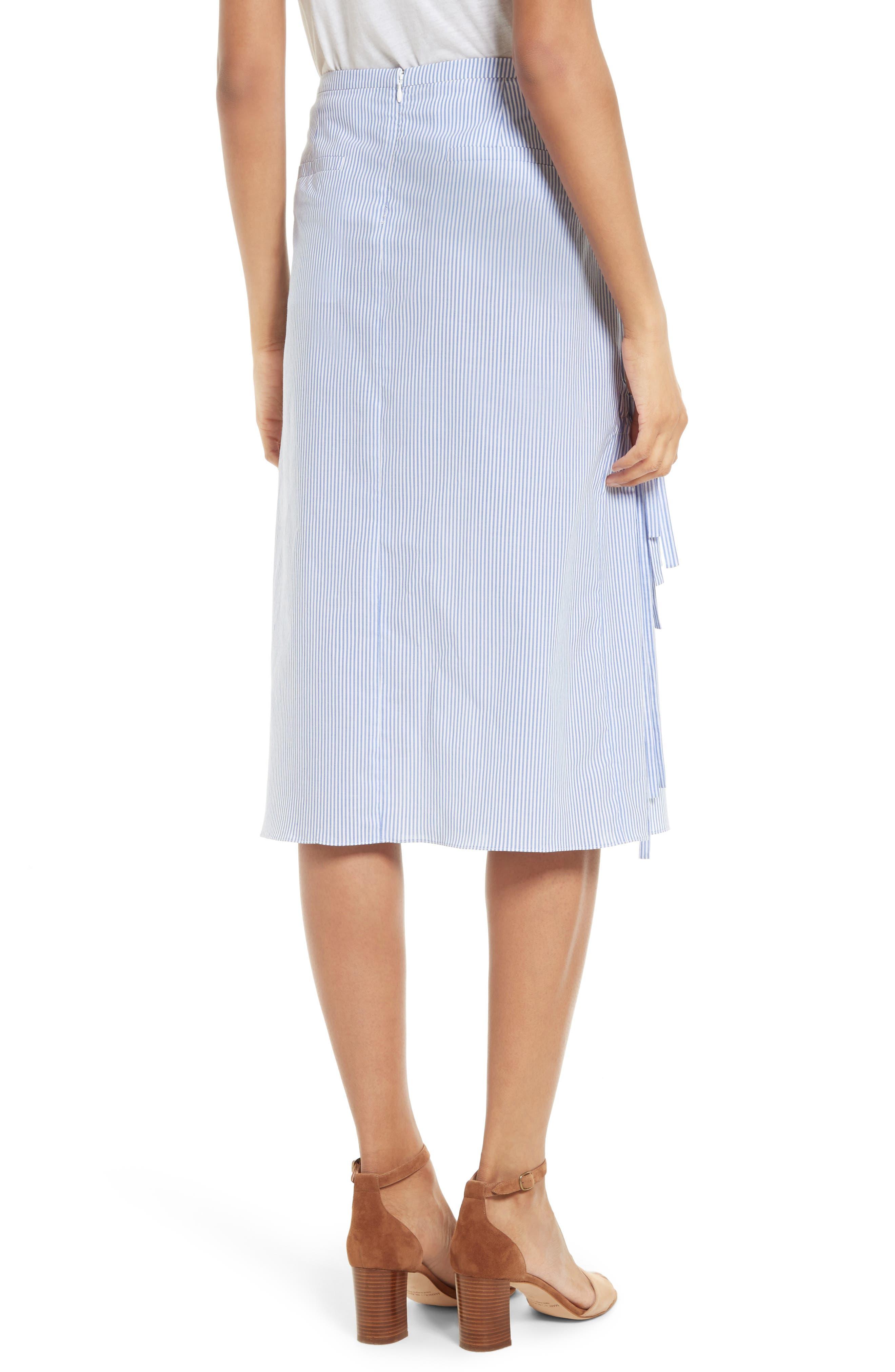 Alternate Image 2  - Tibi Elliot Stripe Side Tie Skirt