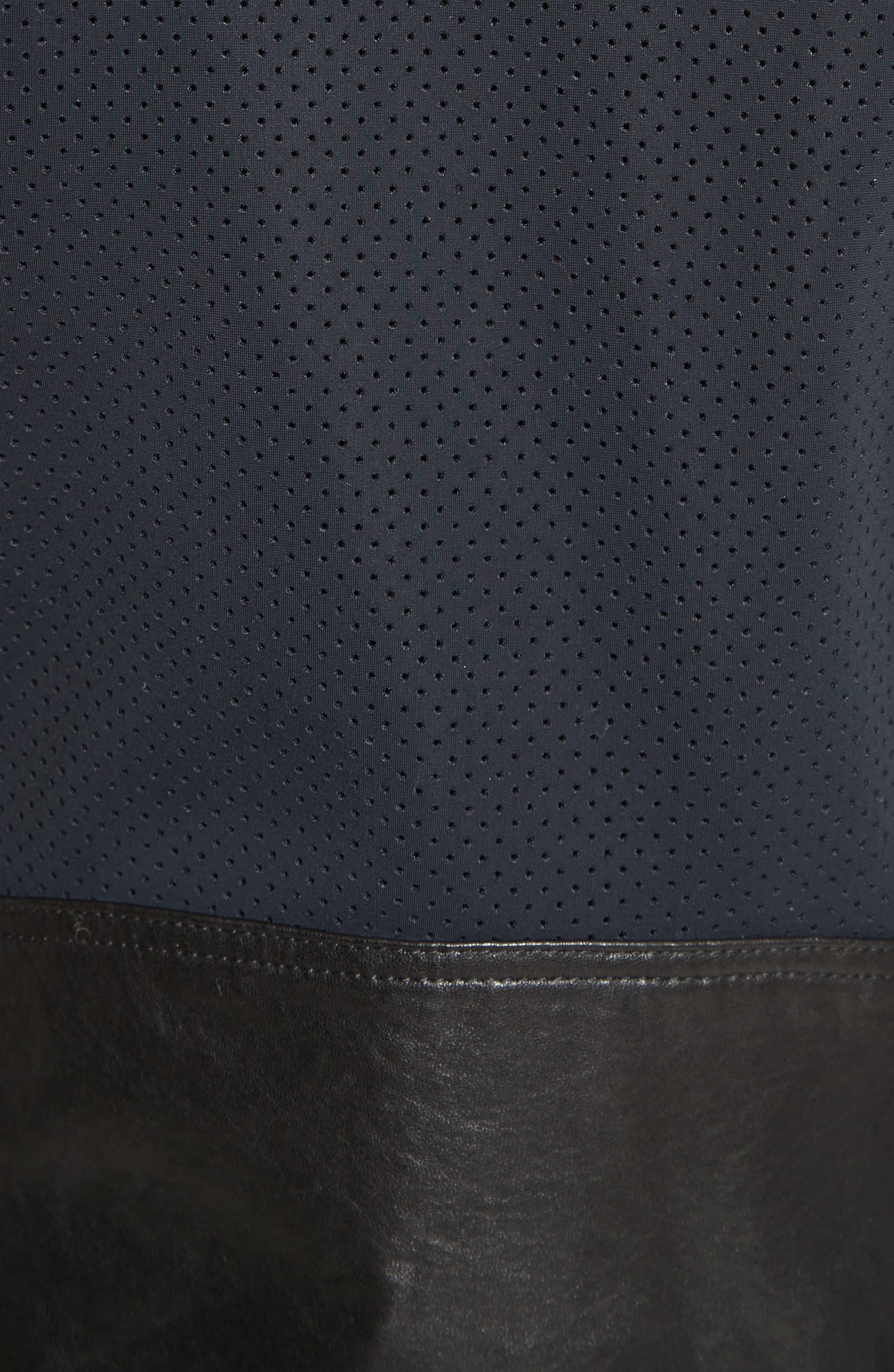 Alternate Image 6  - Rebecca Minkoff Wes Moto Leather & Neoprene Jacket