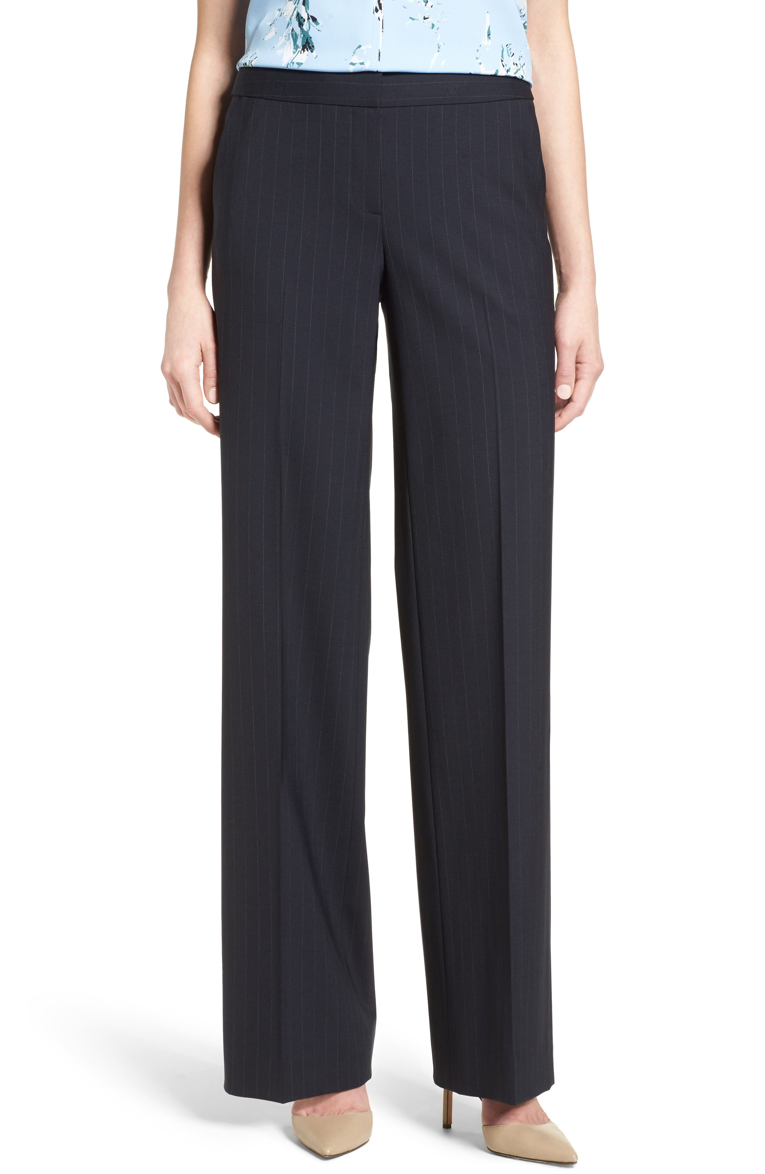 Classiques Entier Pinstripe Stretch Wool Trousers