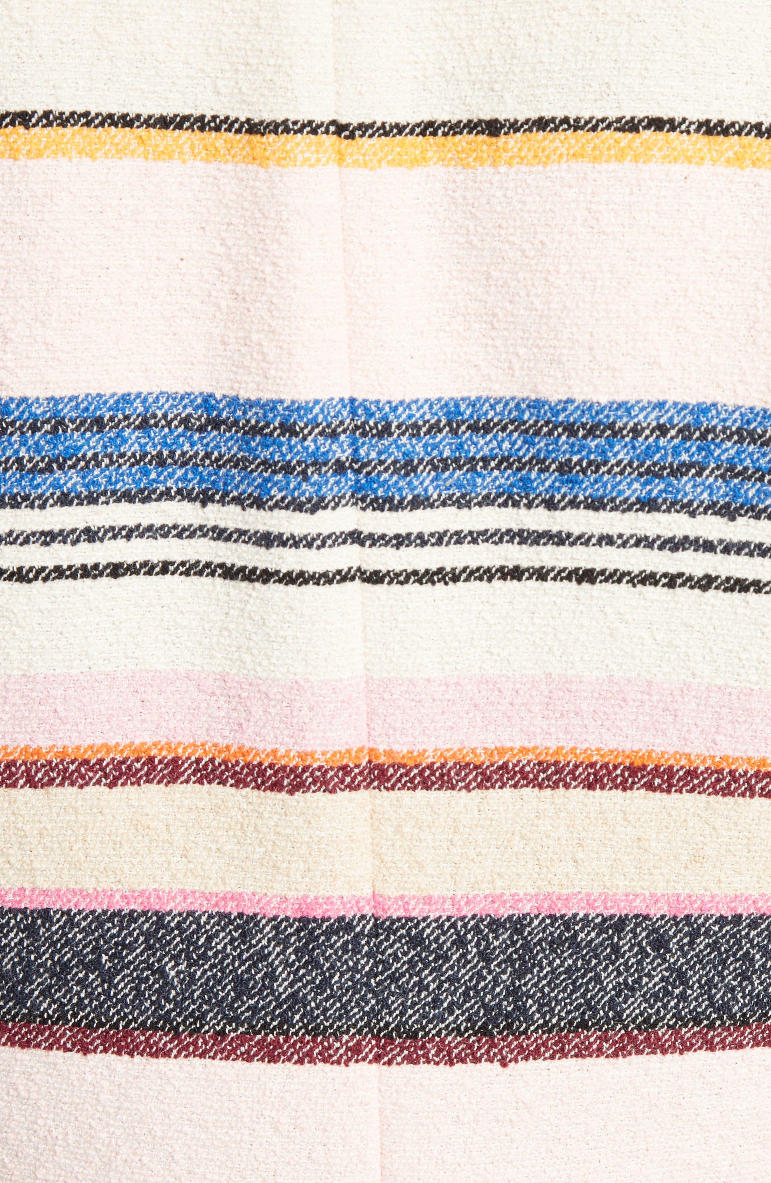 Alternate Image 5  - kate spade new york berber stripe collarless jacket