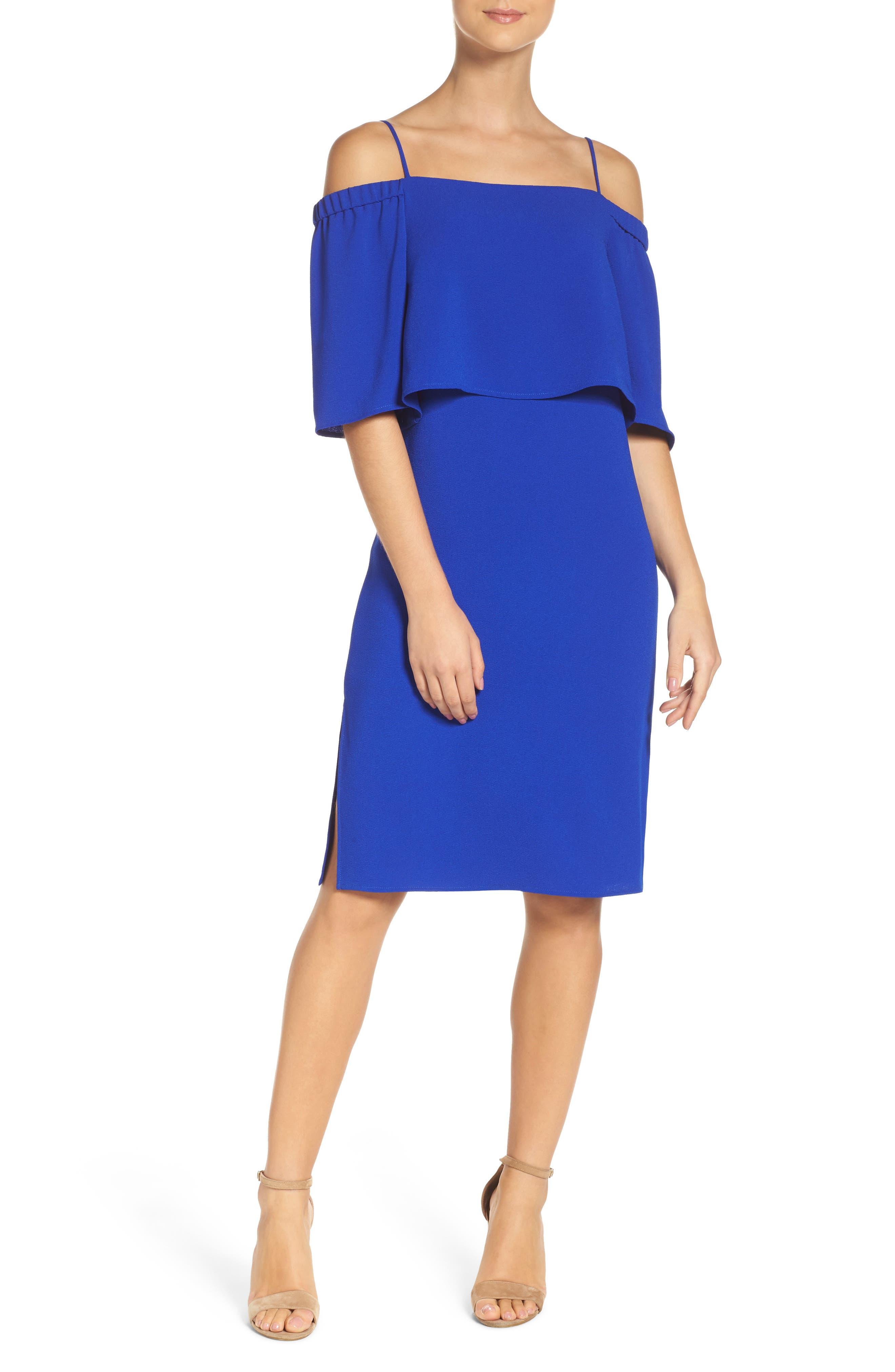 Alternate Image 4  - Charles Henry Popover Midi Dress