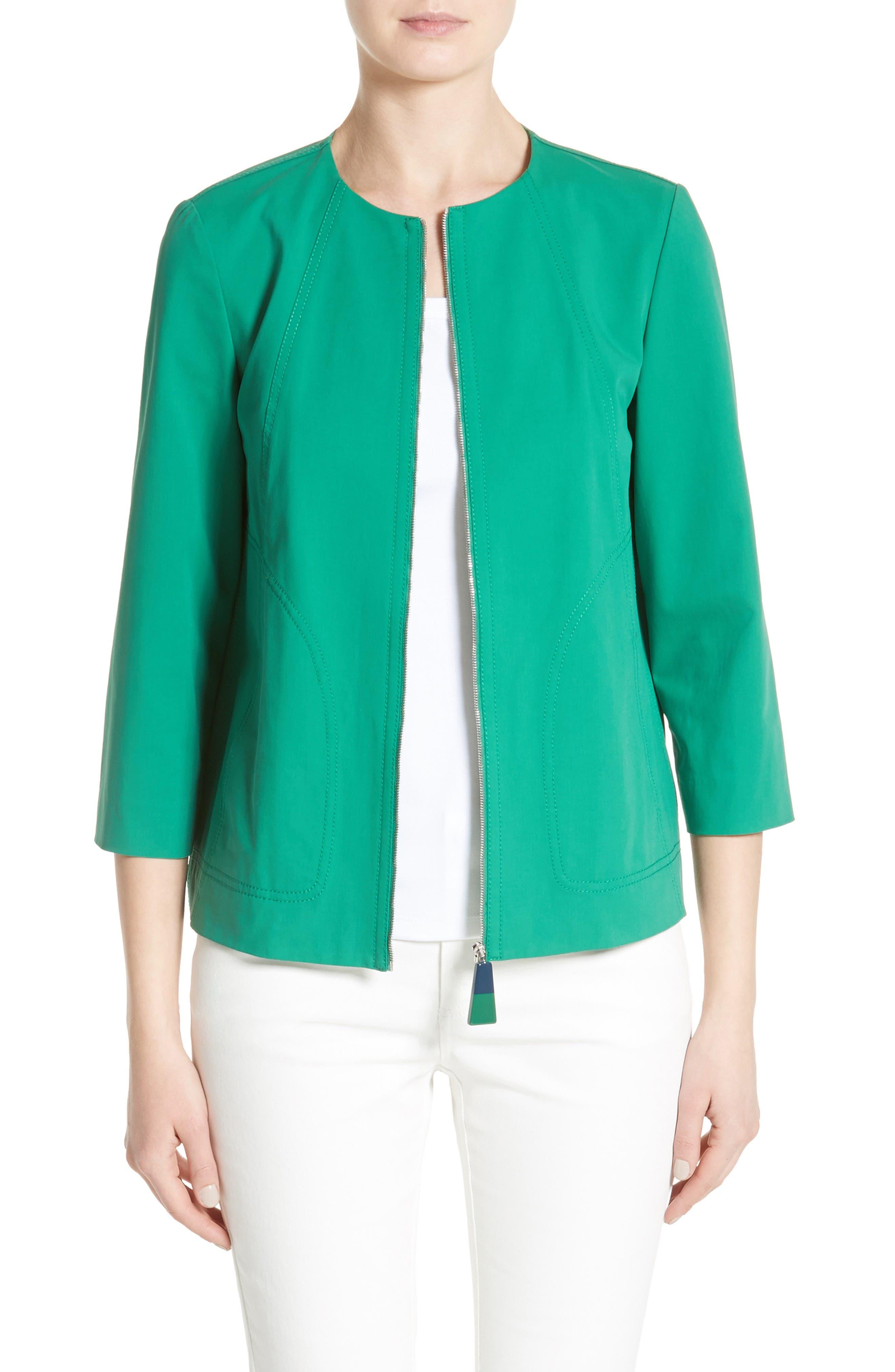 Lafayette 148 New York Levine Cotton Blend Jacket