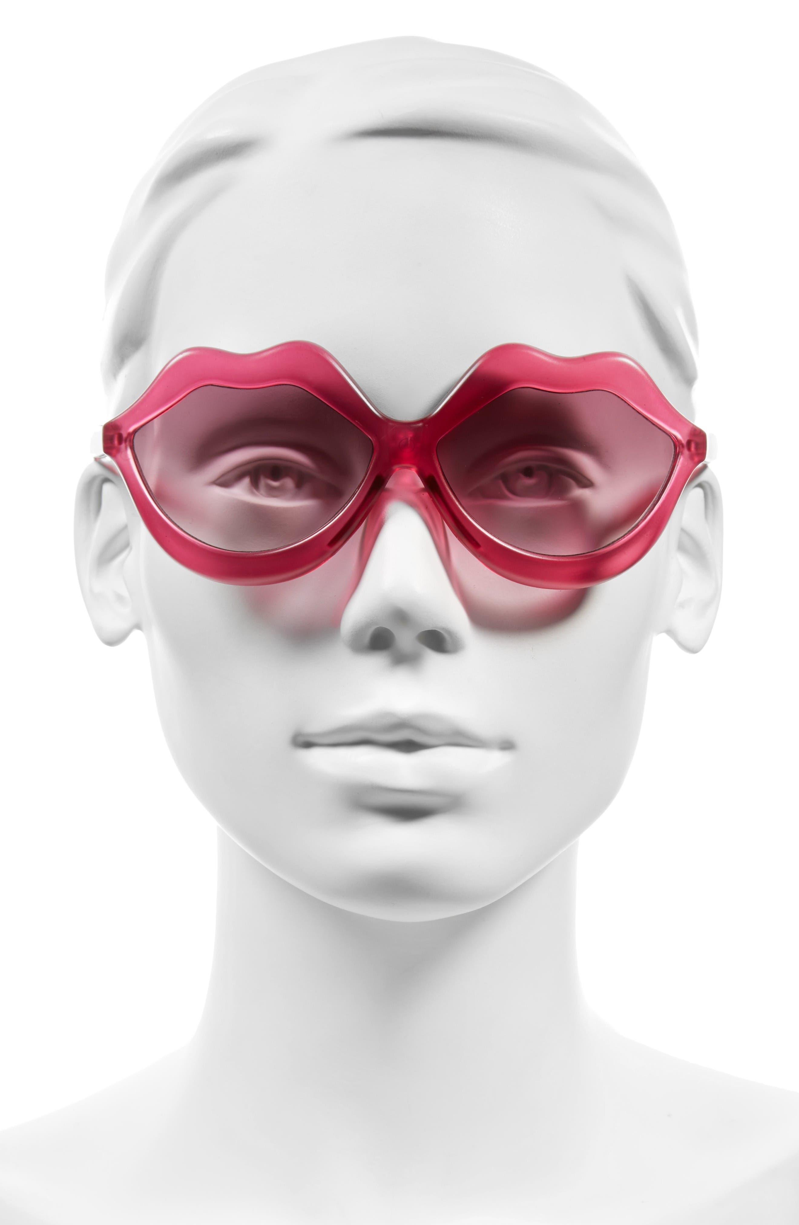 Alternate Image 2  - Circus by Sam Edelman 58mm Lips Sunglasses