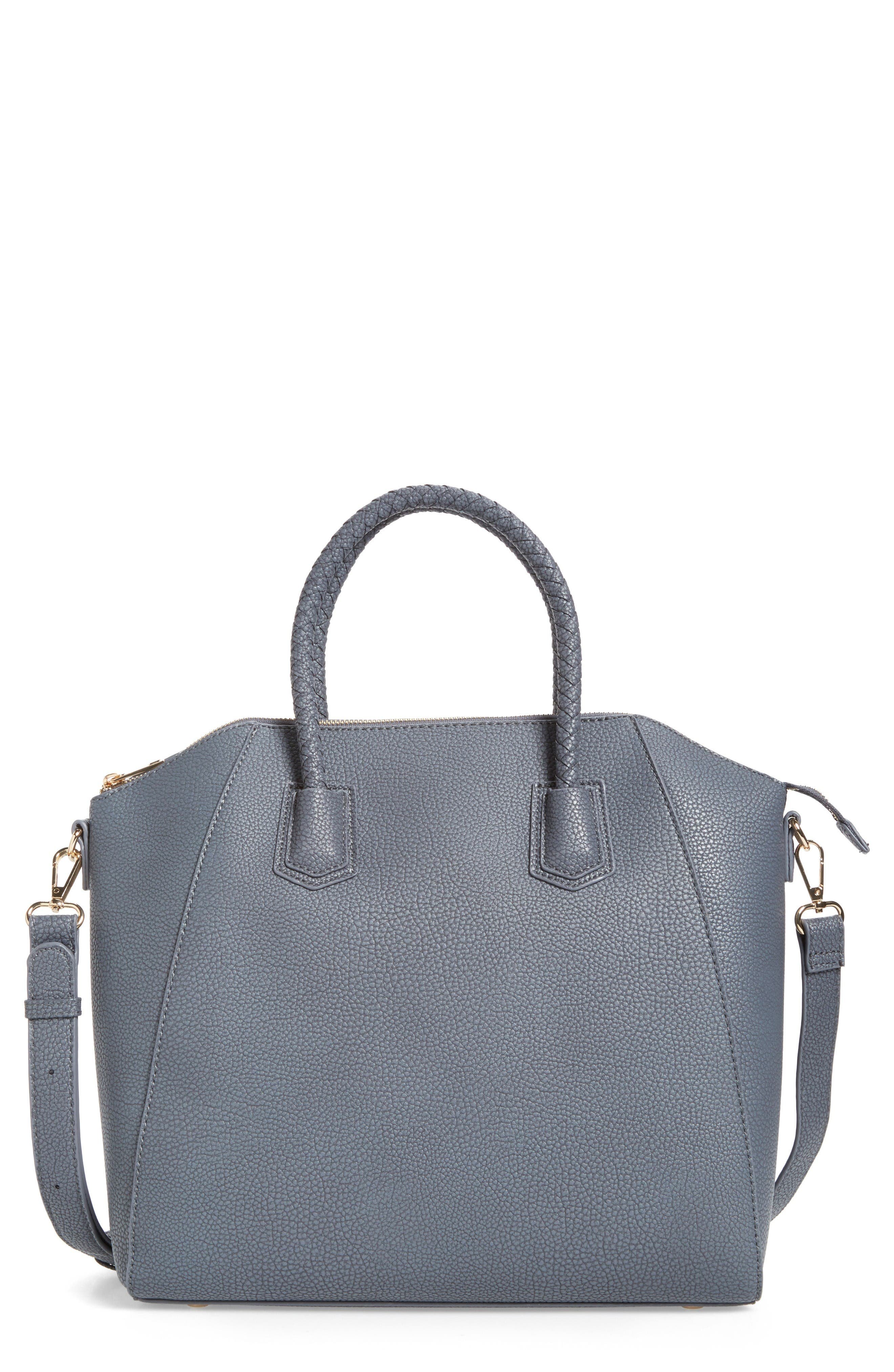 Alternate Image 1 Selected - Sole Society Giada Braided Faux Leather Satchel