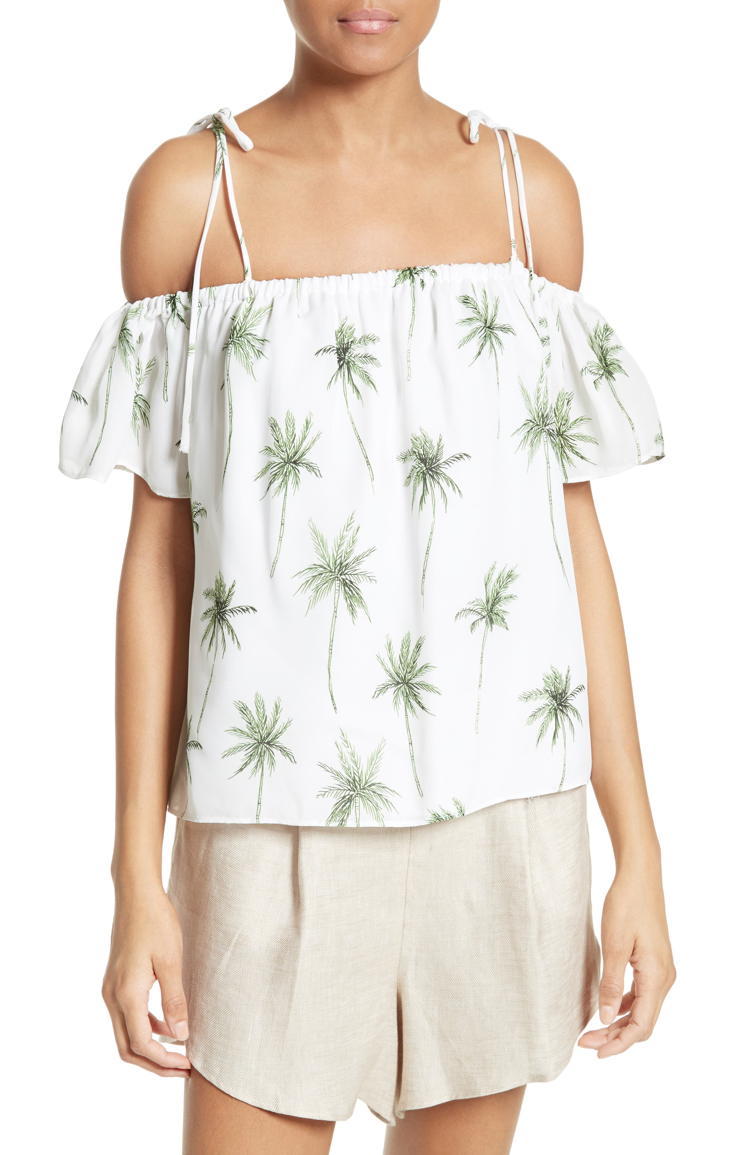 Alternate Image 1 Selected - Milly Eden Palm Tree Print Top