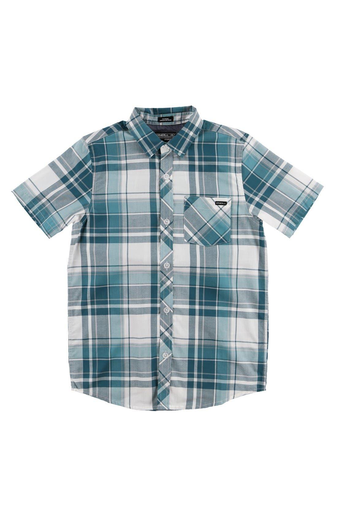 O'Neill Plaid Woven Shirt (Big Boys)