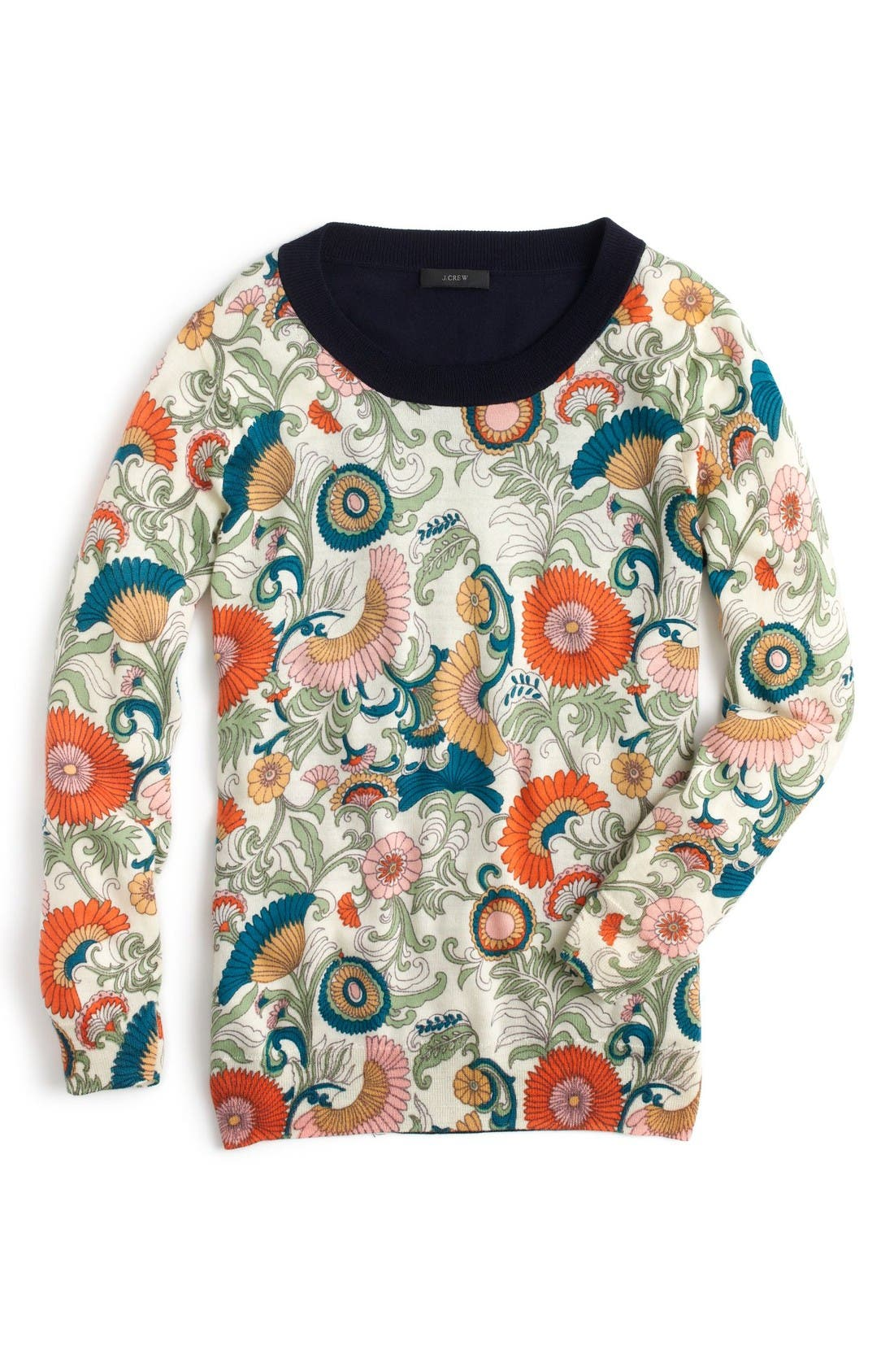 Alternate Image 4  - J.Crew Tippi Ornate Floral Sweater