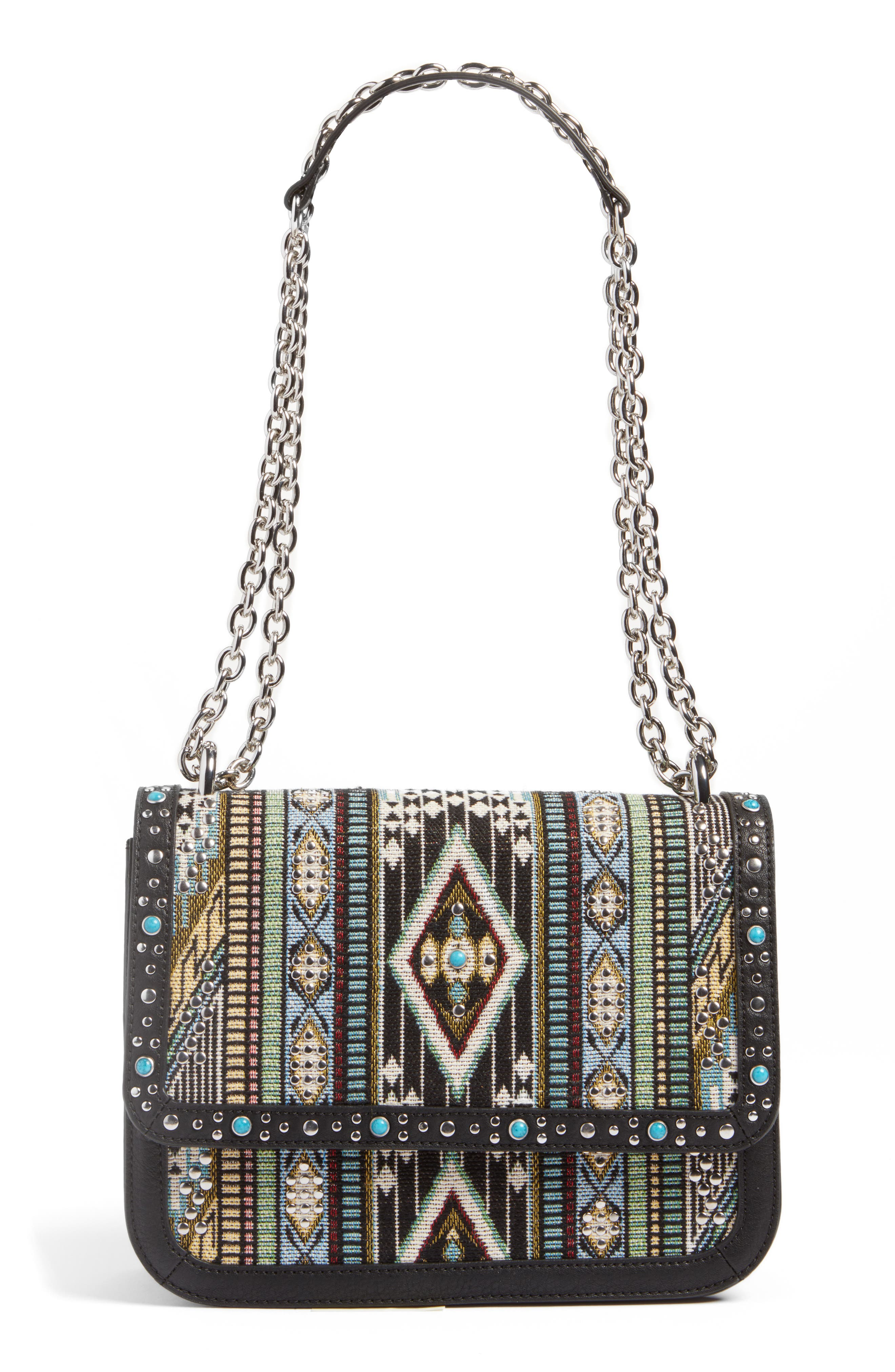 Alternate Image 1 Selected - Chelsea28 Dahlia Embroidered Faux Leather Crossbody Bag