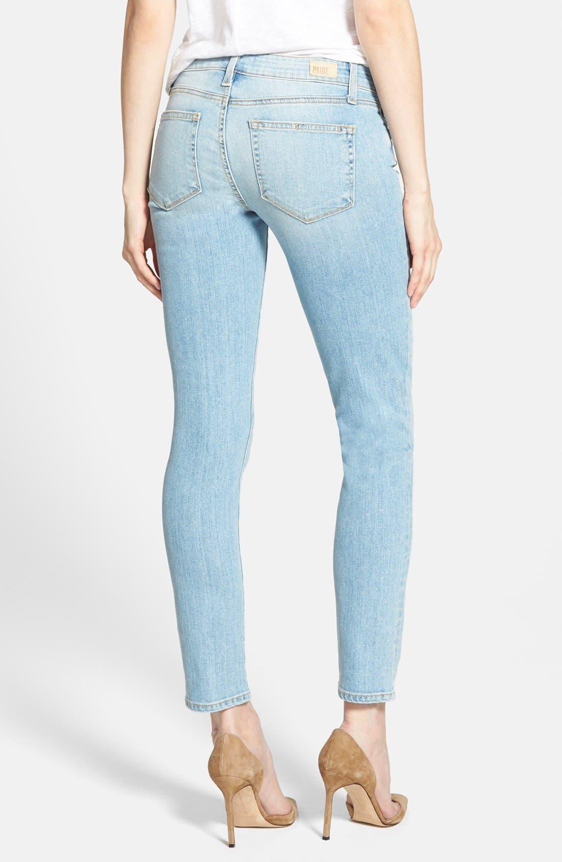 Alternate Image 2  - Paige Denim 'Skyline' Ankle Peg Jeans (Loren Blue)