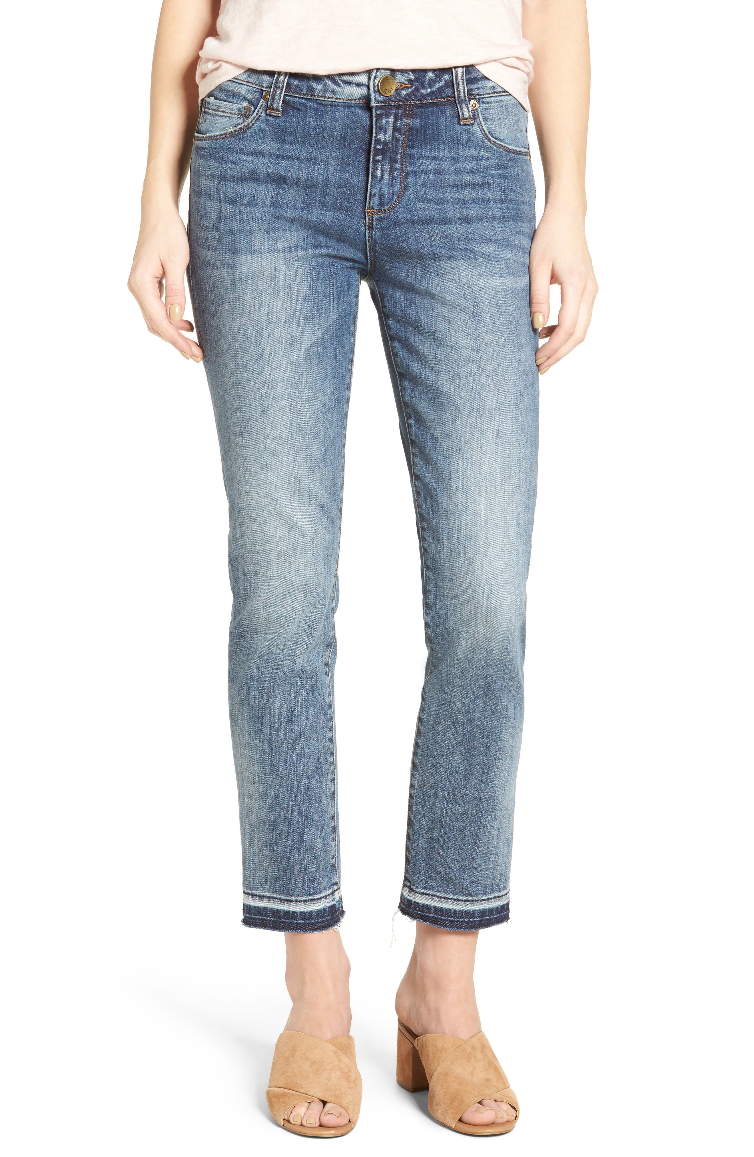 KUT from the Kloth Reese Crop Straight Leg Jeans (Motive)