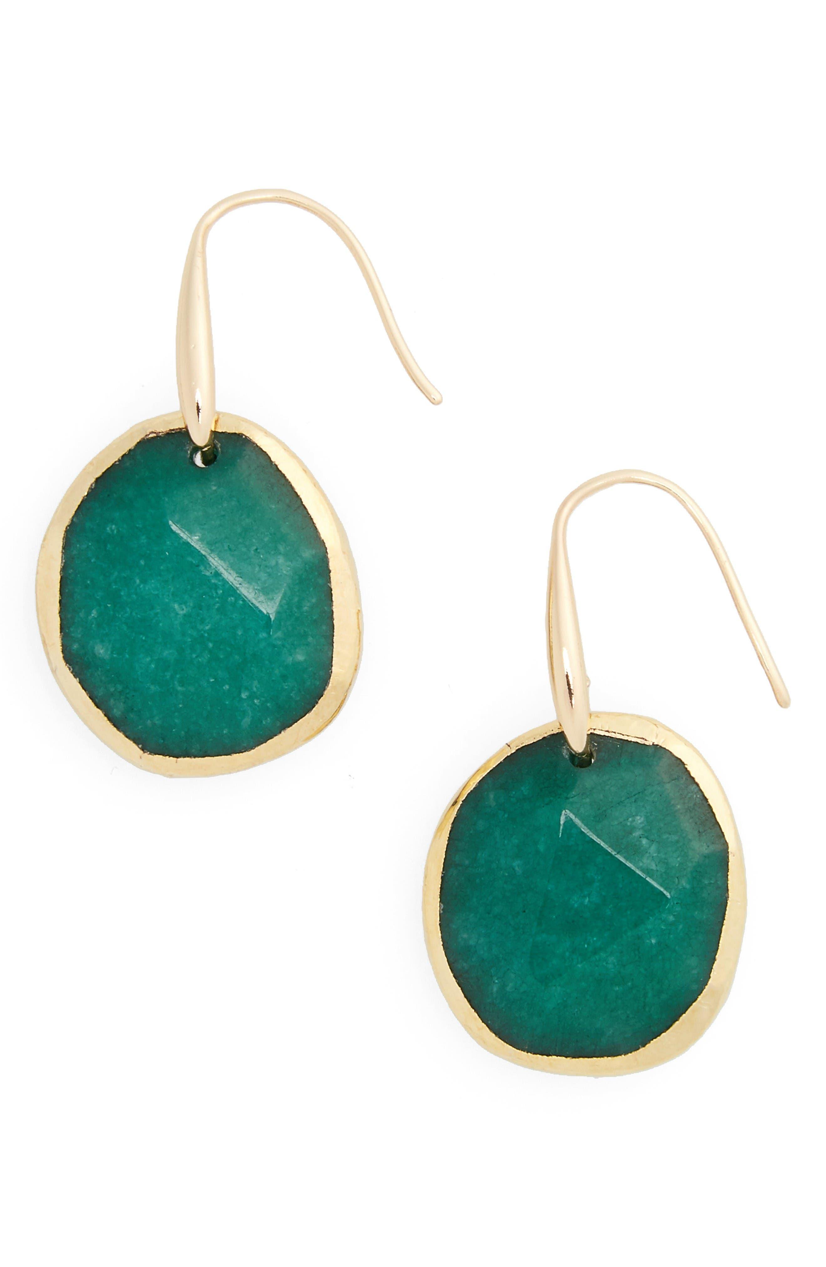 Main Image - Nordstrom Semiprecious Stone Drop Earrings