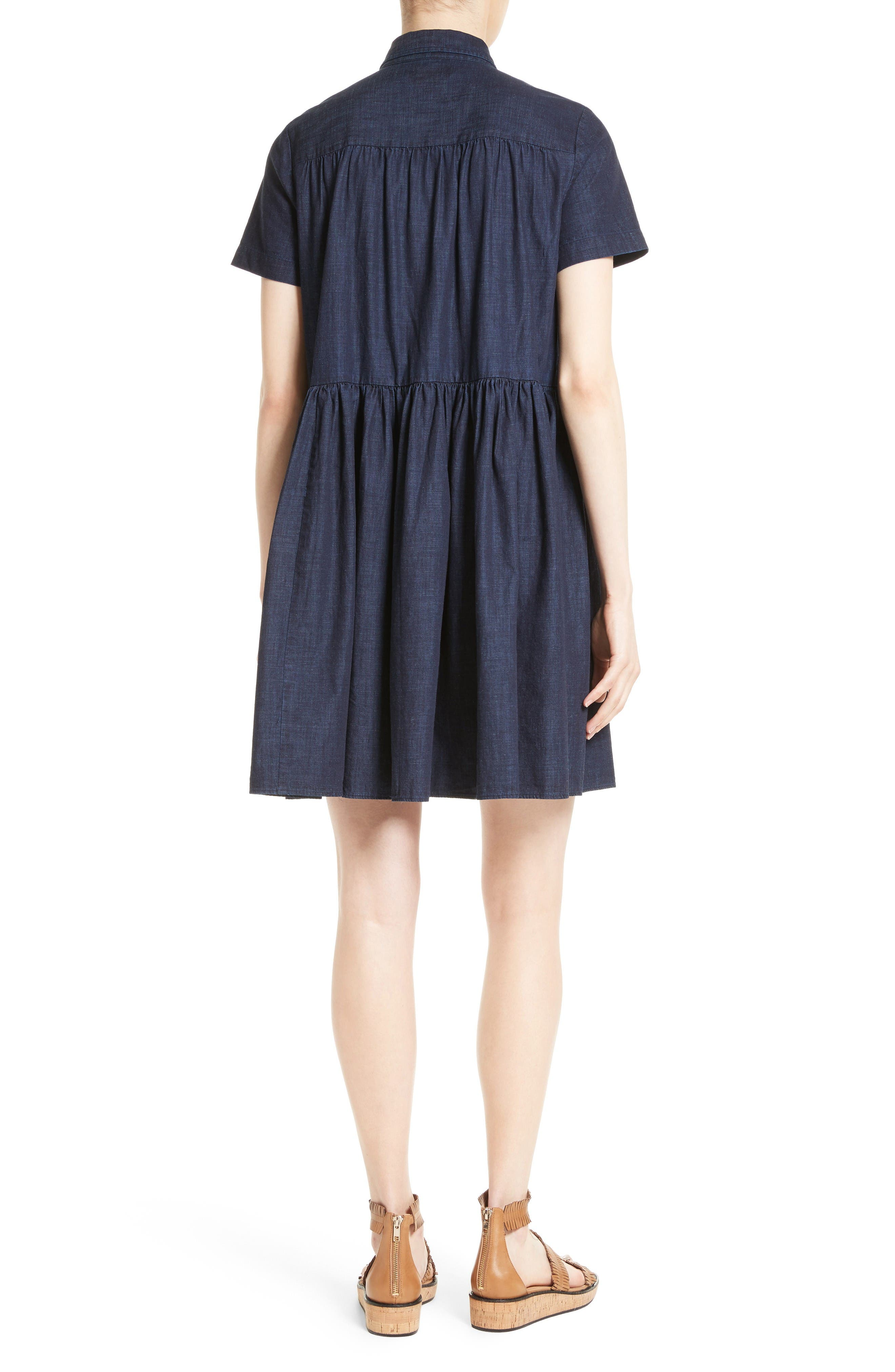 Alternate Image 2  - kate spade new york chambray swing shirtdress