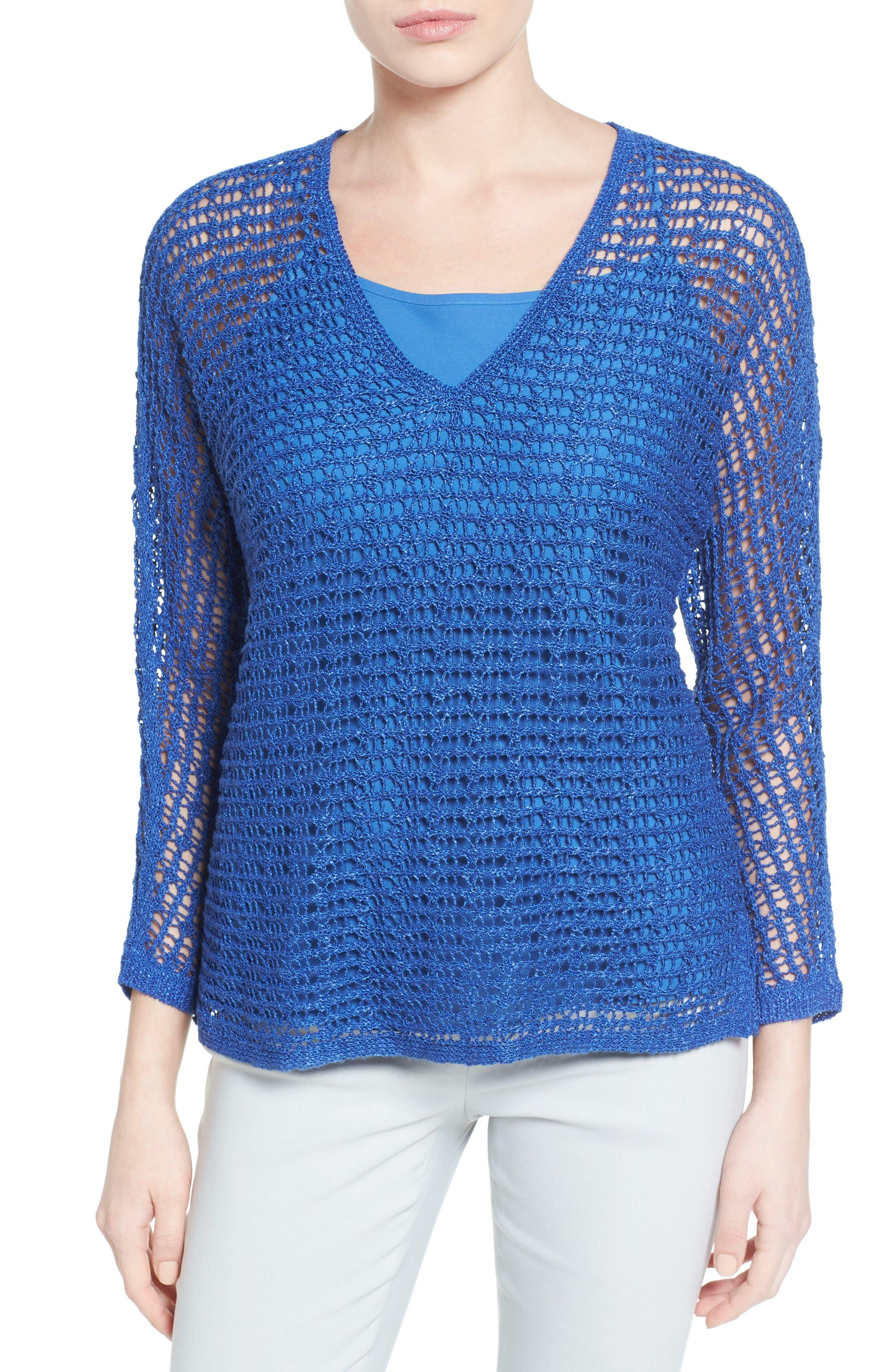 NIC+ZOE Sun Catcher Crochet Top