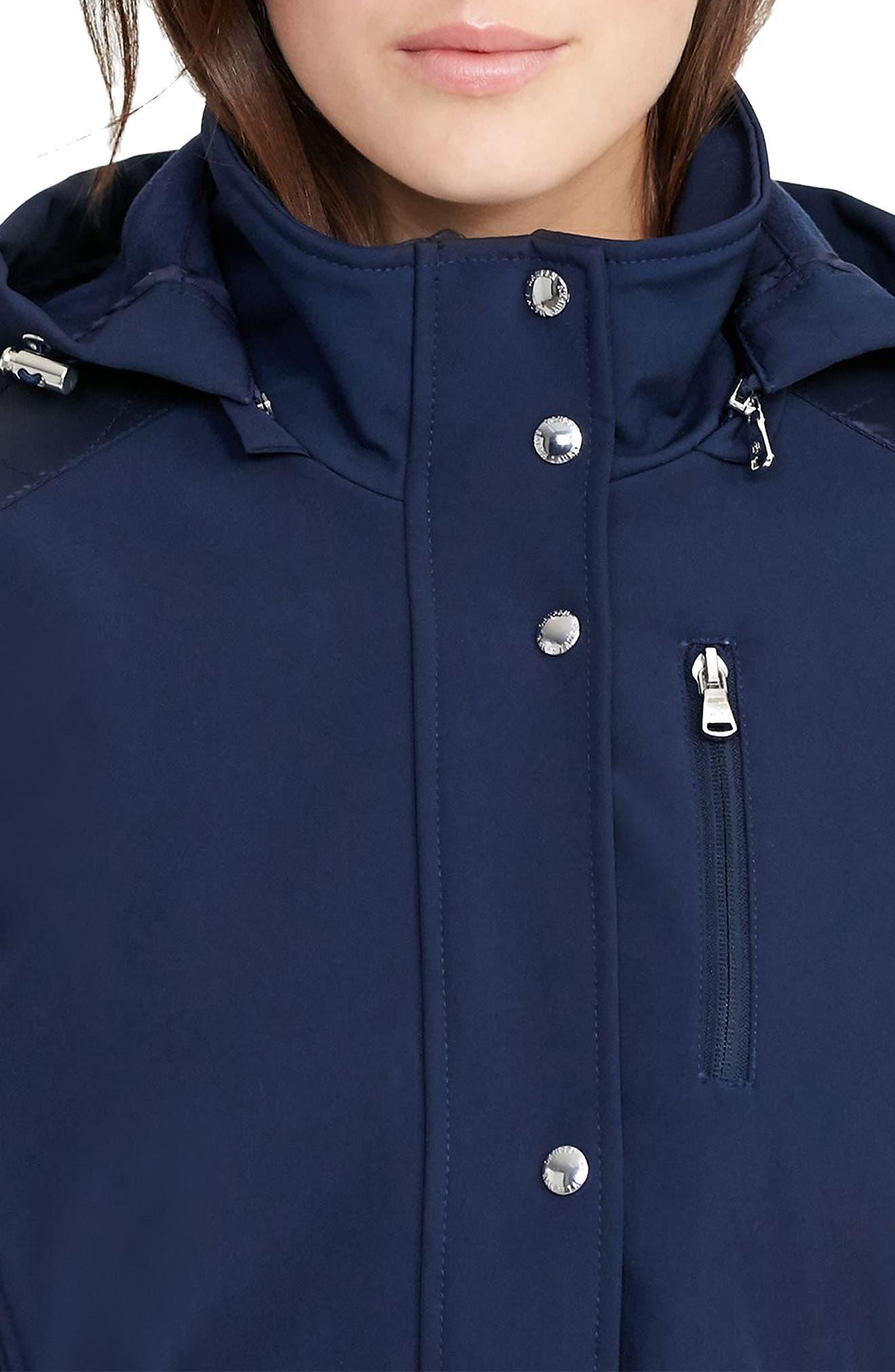 Alternate Image 3  - Lauren Ralph Lauren Belted Hooded Soft Shell Jacket