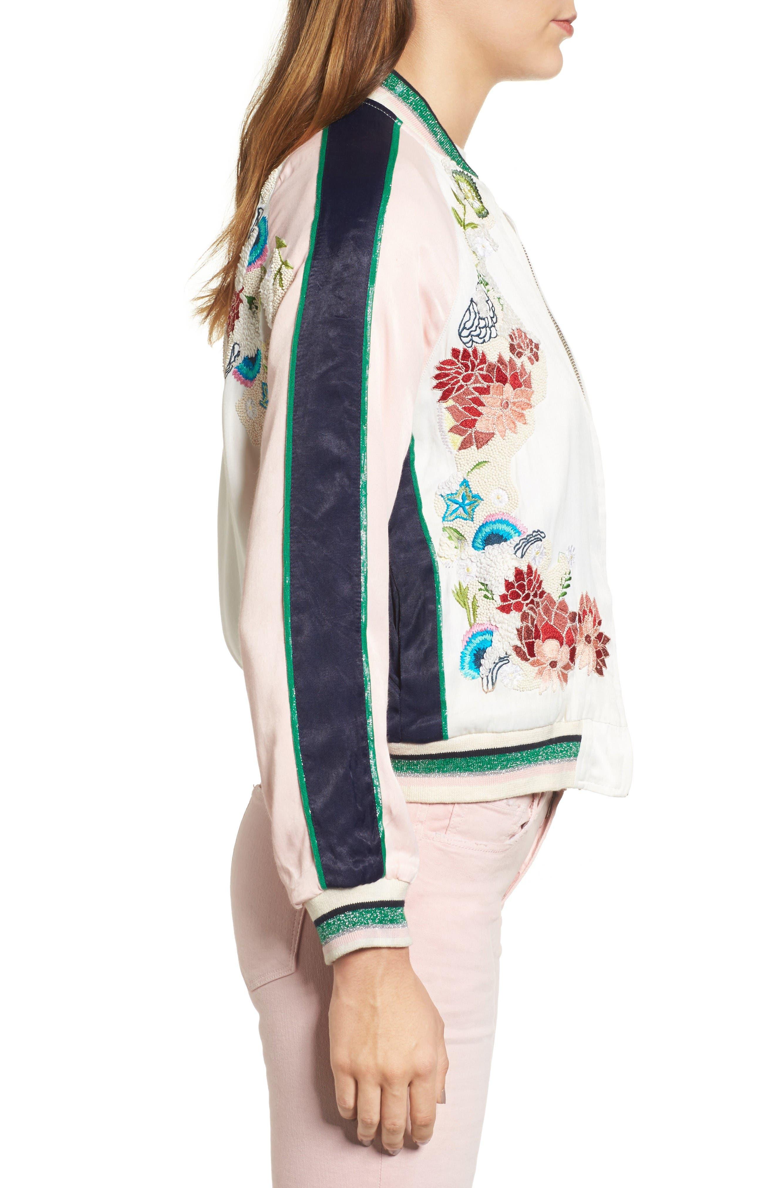 Alternate Image 3  - Paul & Joe Sister Les Fleurs Embroidered Bomber Jacket