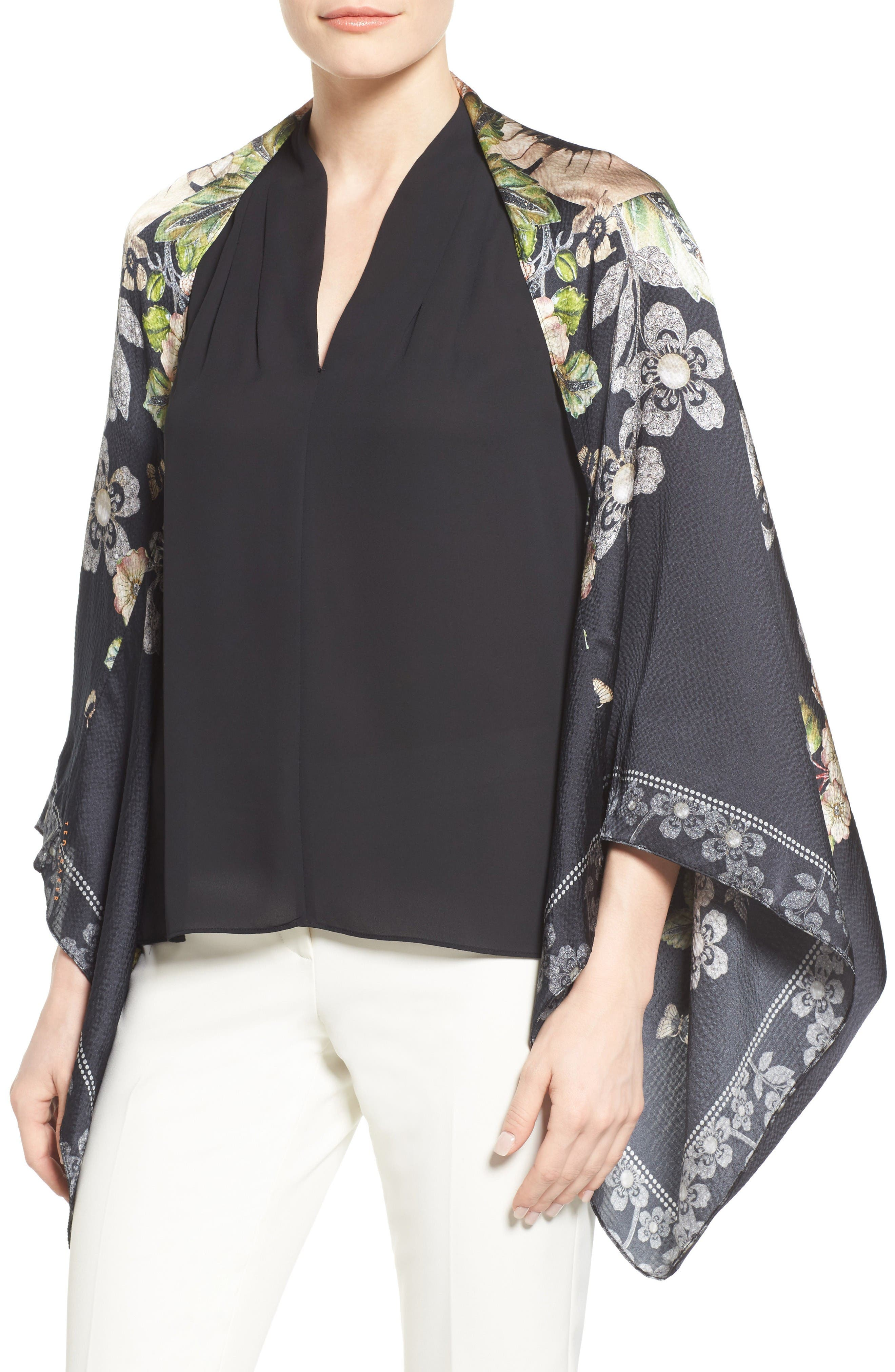 Main Image - Ted Baker London Gem Gardens Cape Scarf
