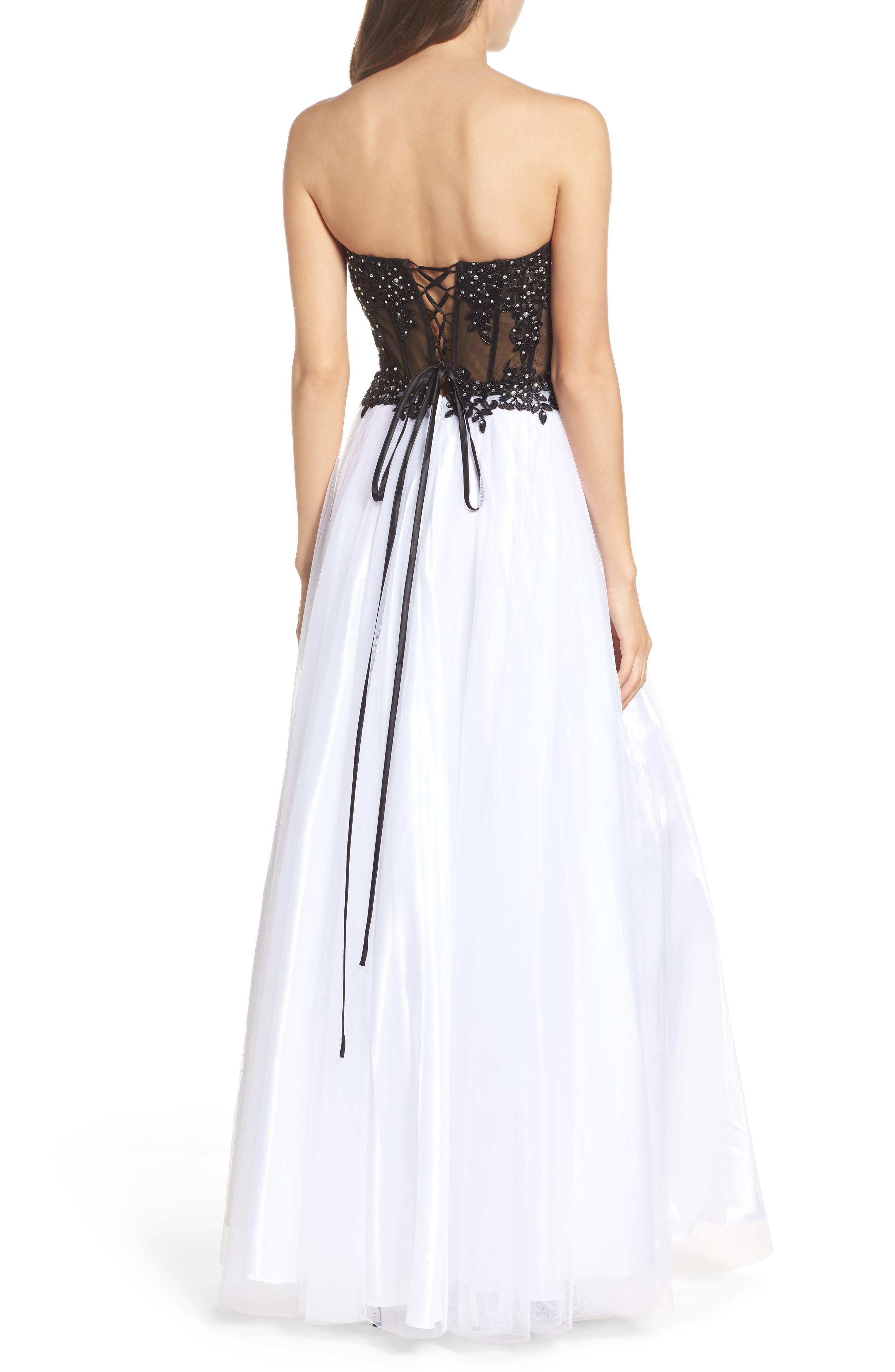 Alternate Image 2  - Blondie Nites Strapless Bustier Gown
