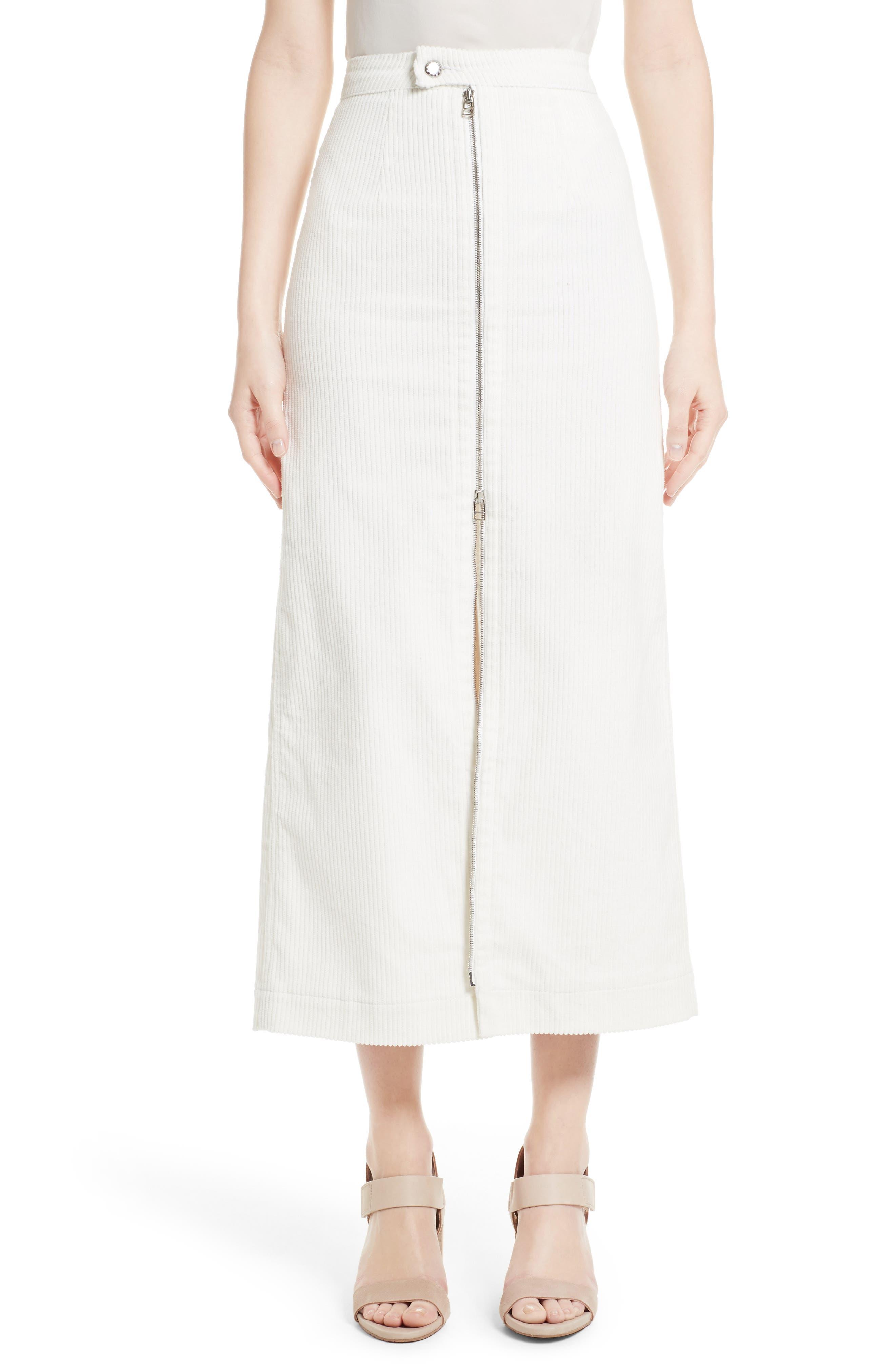 ECKHAUS LATTA Zip Front Midi Skirt